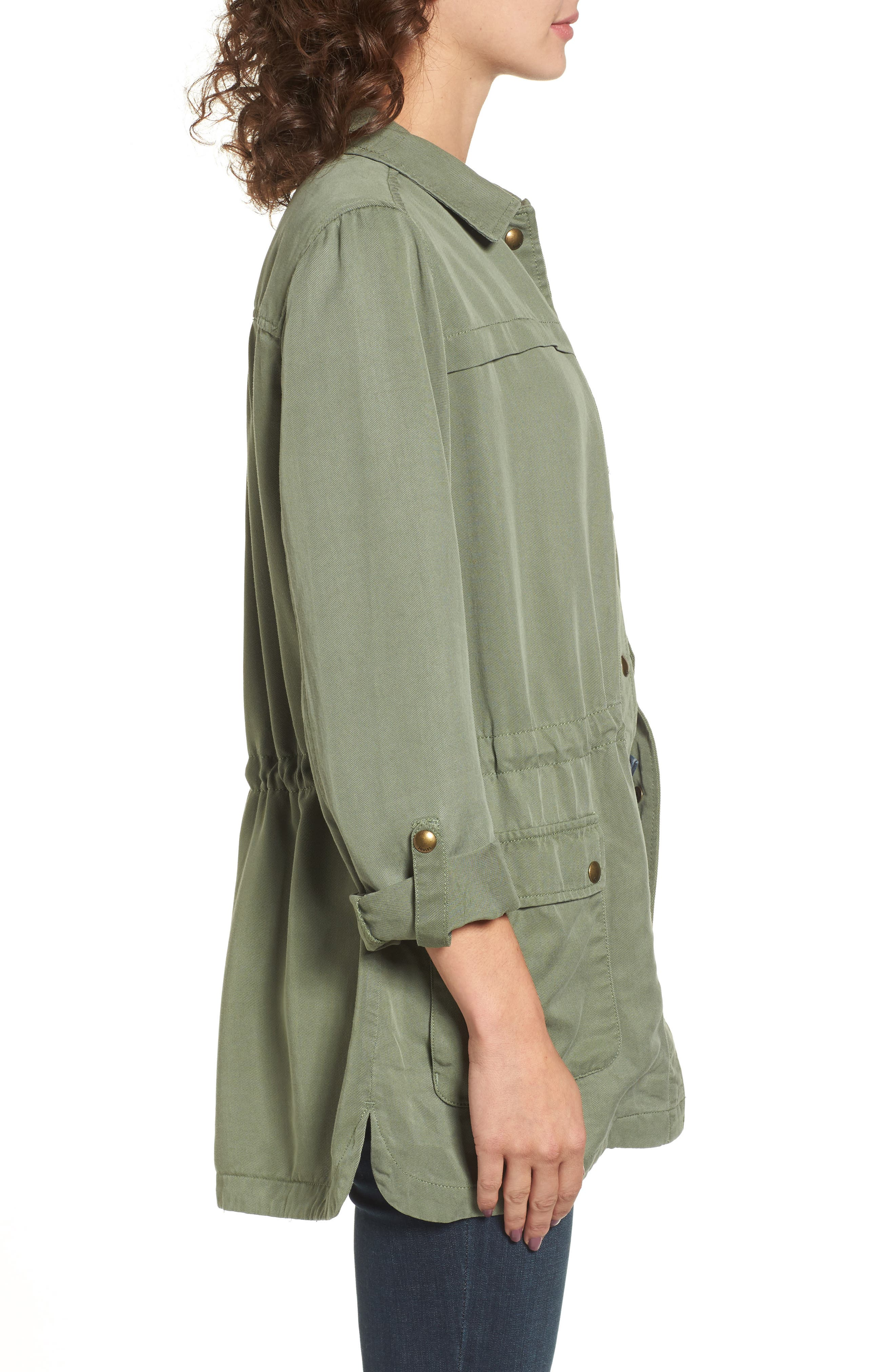 Safari Jacket,                             Alternate thumbnail 3, color,                             Soft Khaki