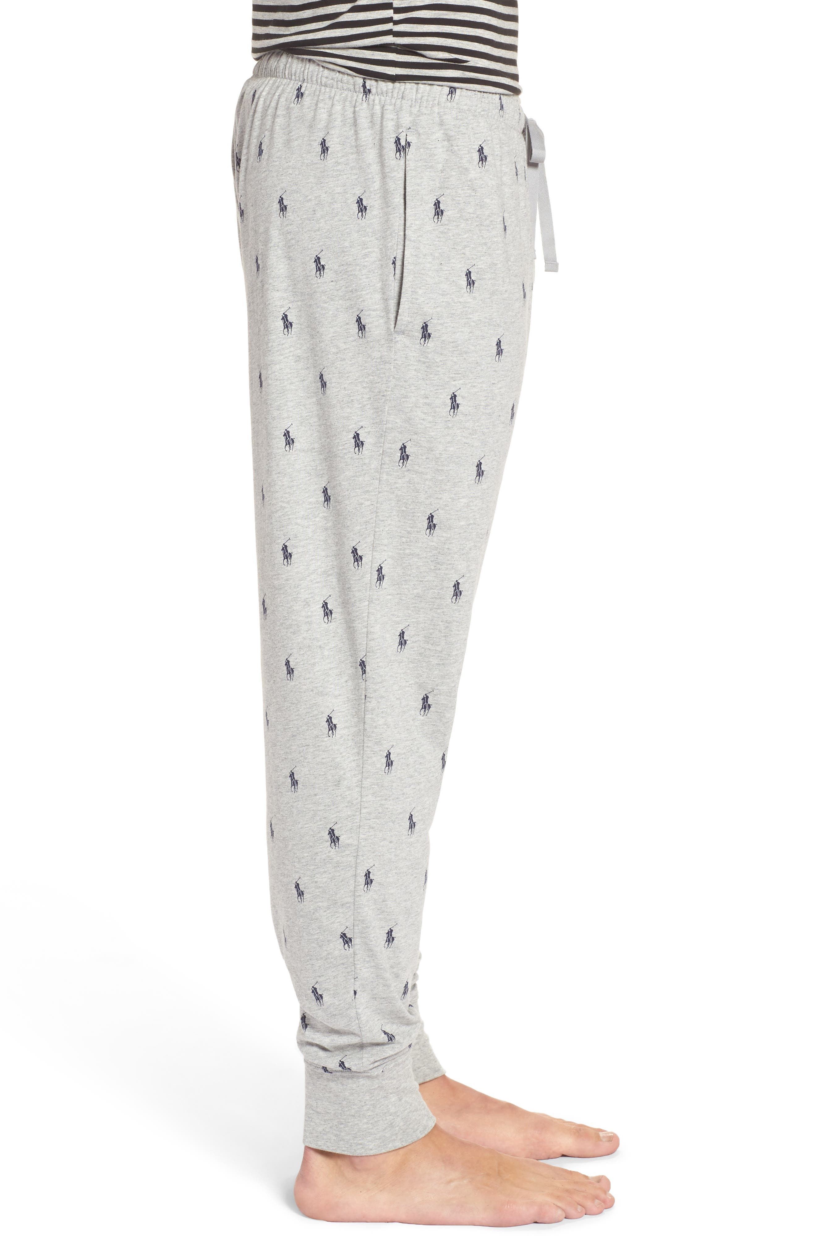 Alternate Image 3  - Polo Ralph Lauren Pony Print Lounge Pants