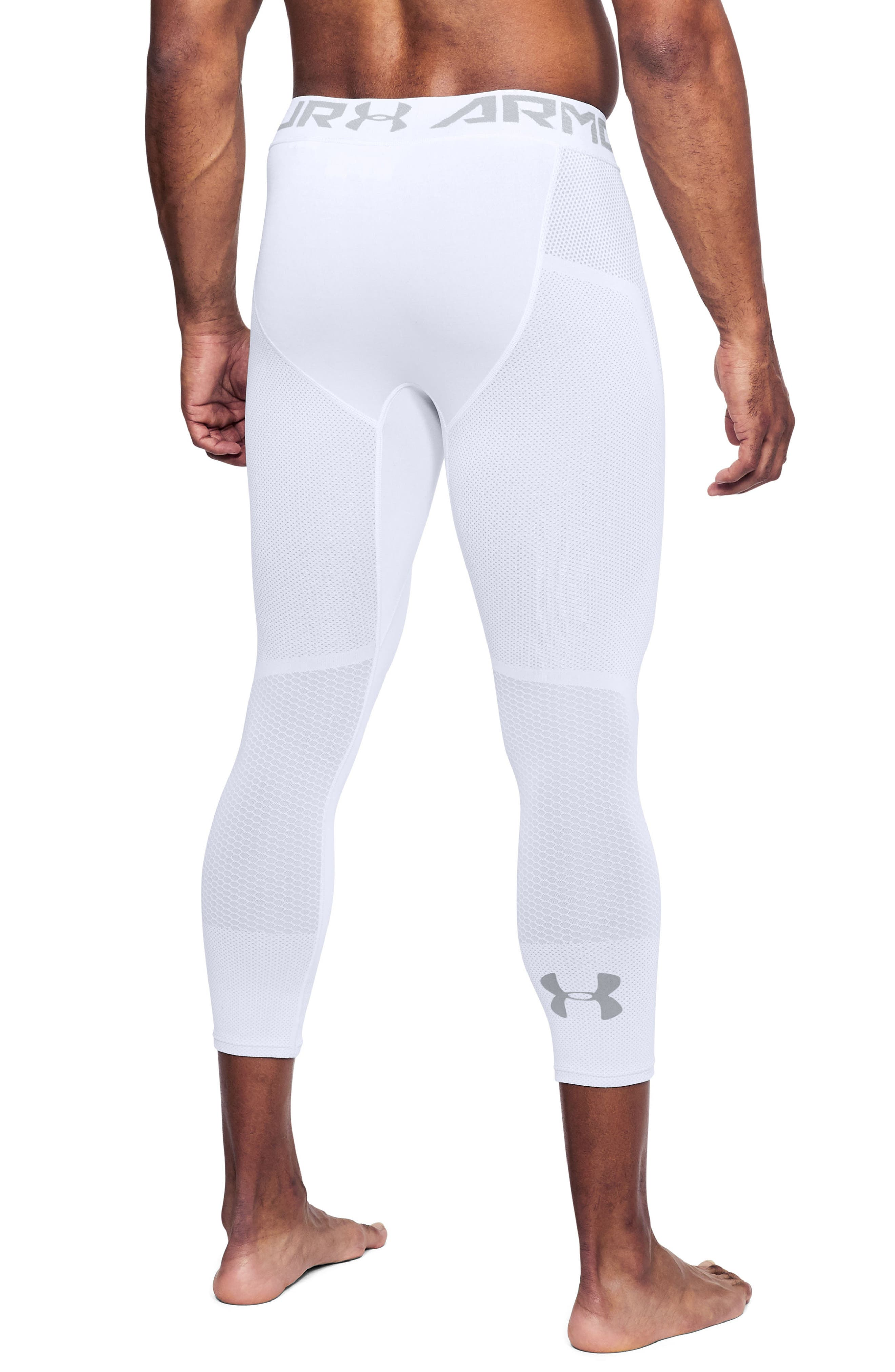 Threadborne Seamless Pants,                             Alternate thumbnail 2, color,                             White/ Overcast Gray