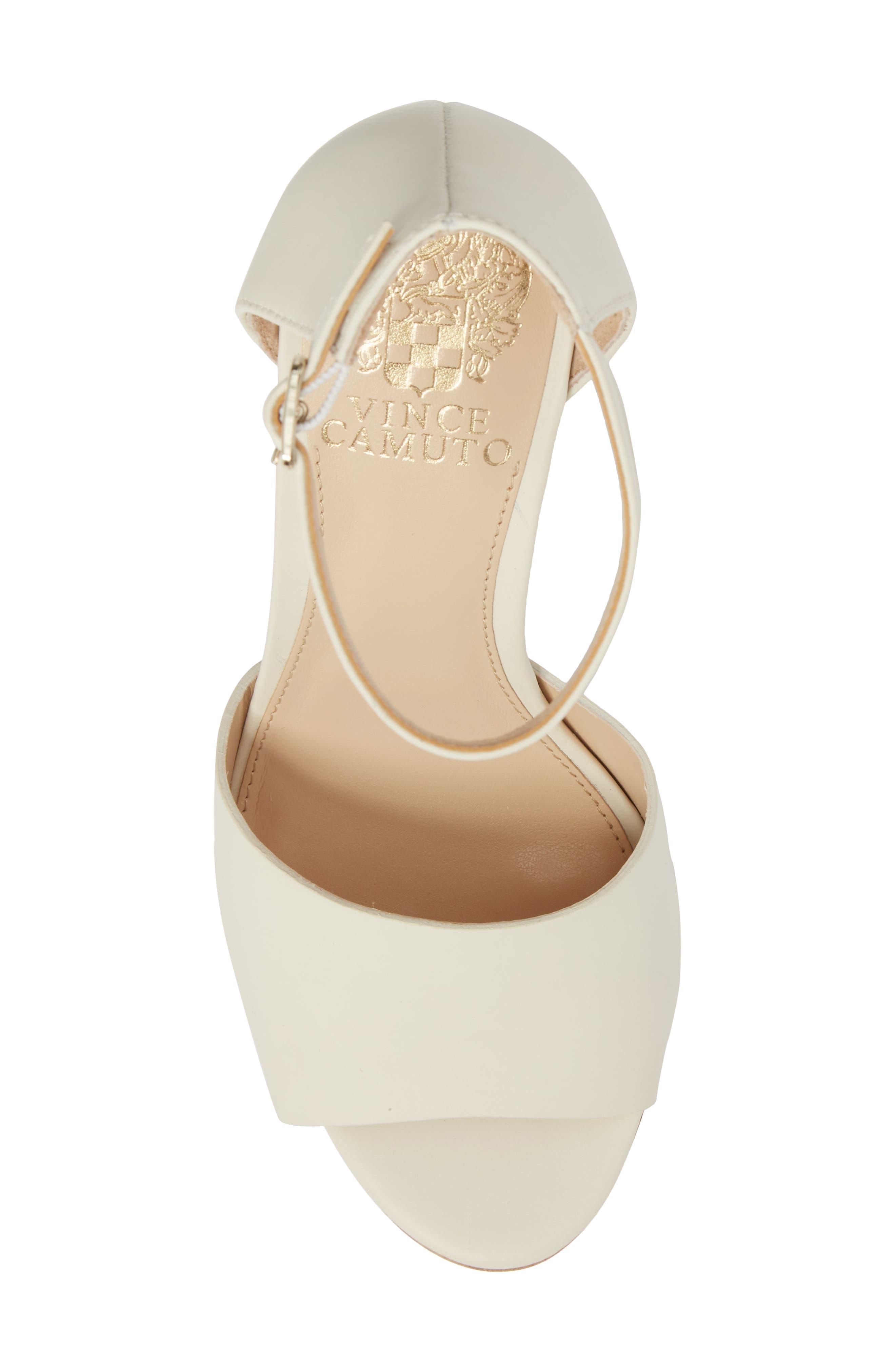 Ciestie Platform Sandal,                             Alternate thumbnail 5, color,                             Vanilla Leather