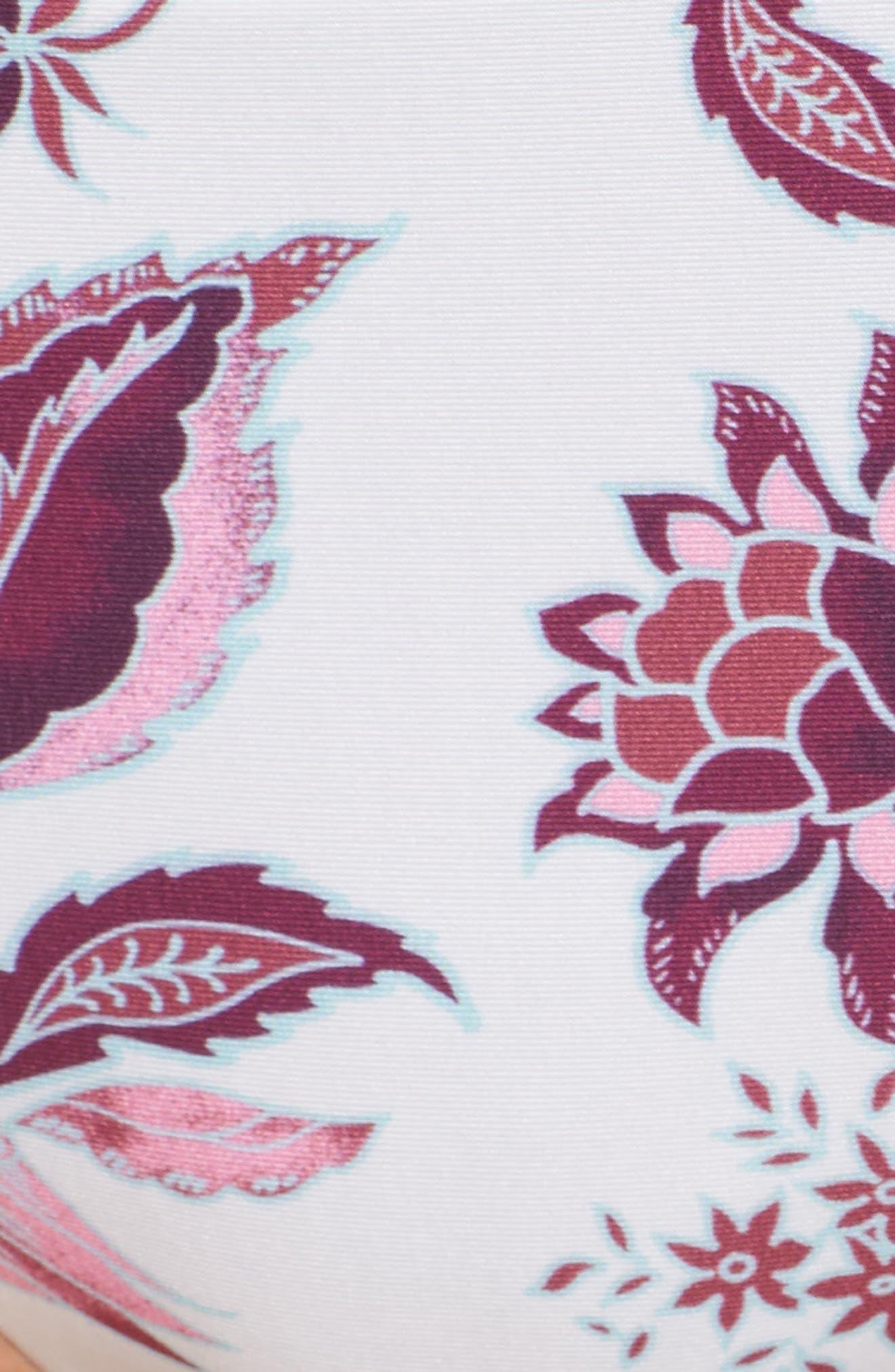 Tahiti Split Tab Hipster Bikini Bottoms,                             Alternate thumbnail 6, color,                             White/ Pink Multi