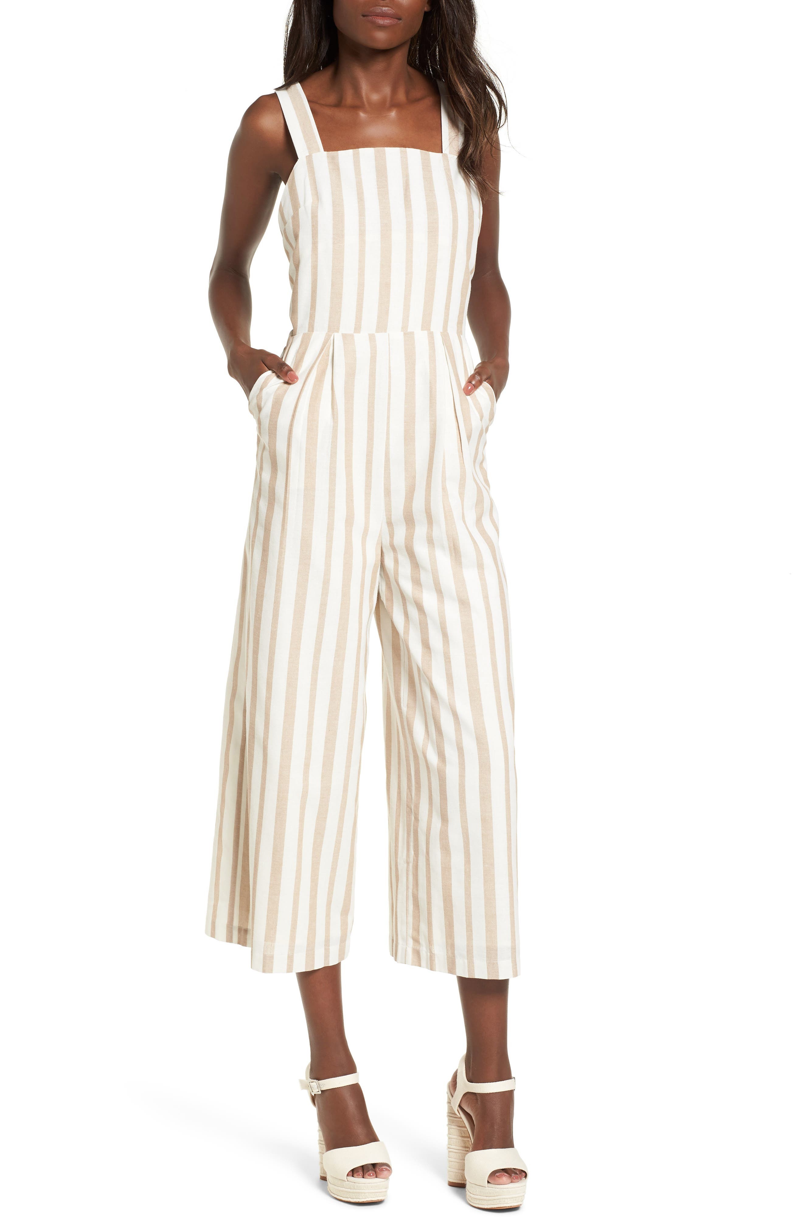 Alternate Image 1 Selected - Chriselle x J.O.A. Wide Leg Jumpsuit