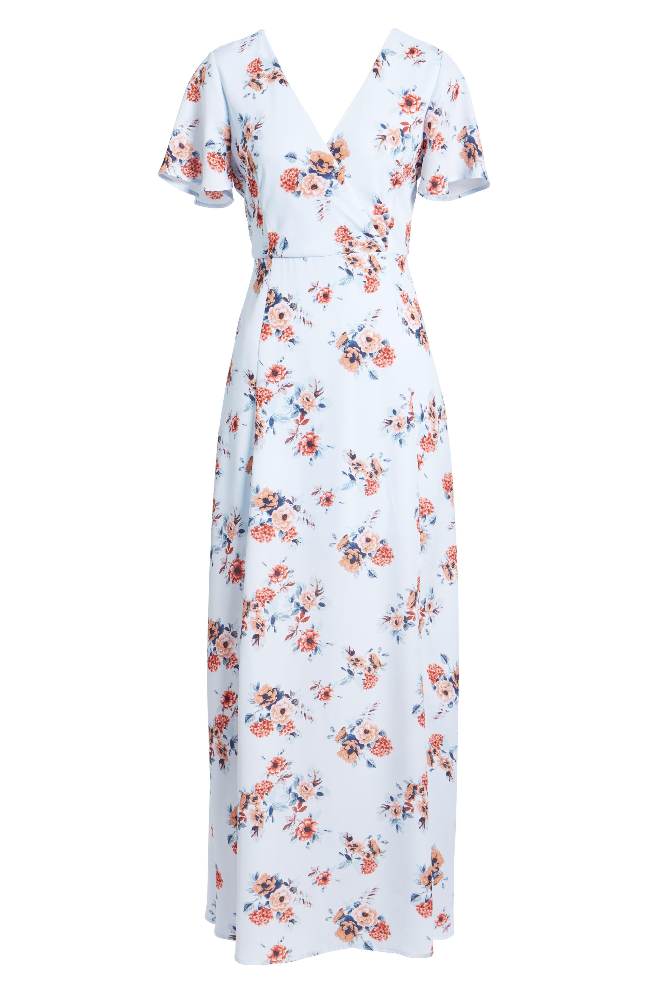 Alternate Image 6  - Dee Elly Floral Maxi Dress