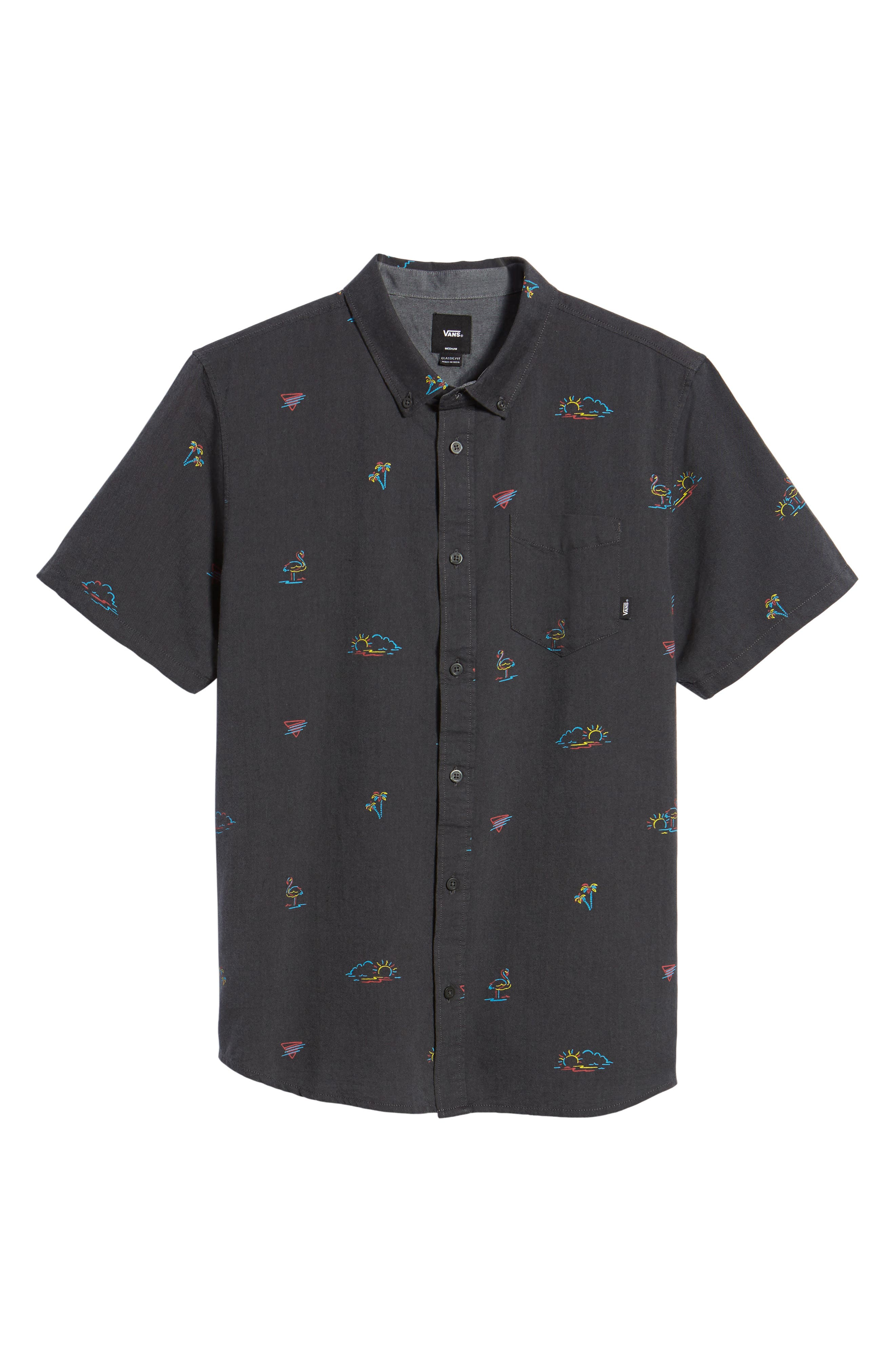 Houser Woven Shirt,                             Alternate thumbnail 6, color,                             Black Road Trippin
