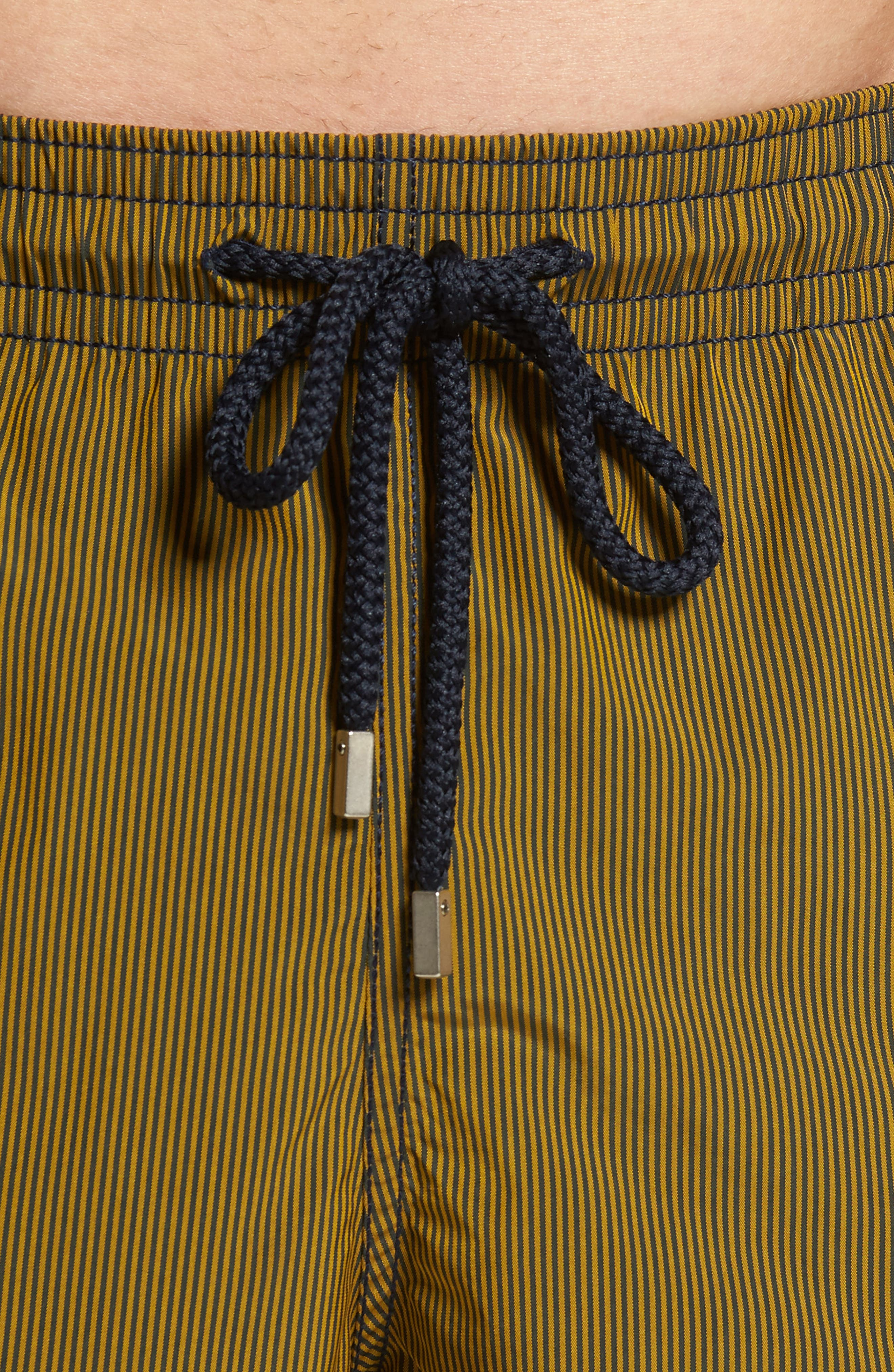 Microstripes Swim Trunks,                             Alternate thumbnail 4, color,                             Curcuma