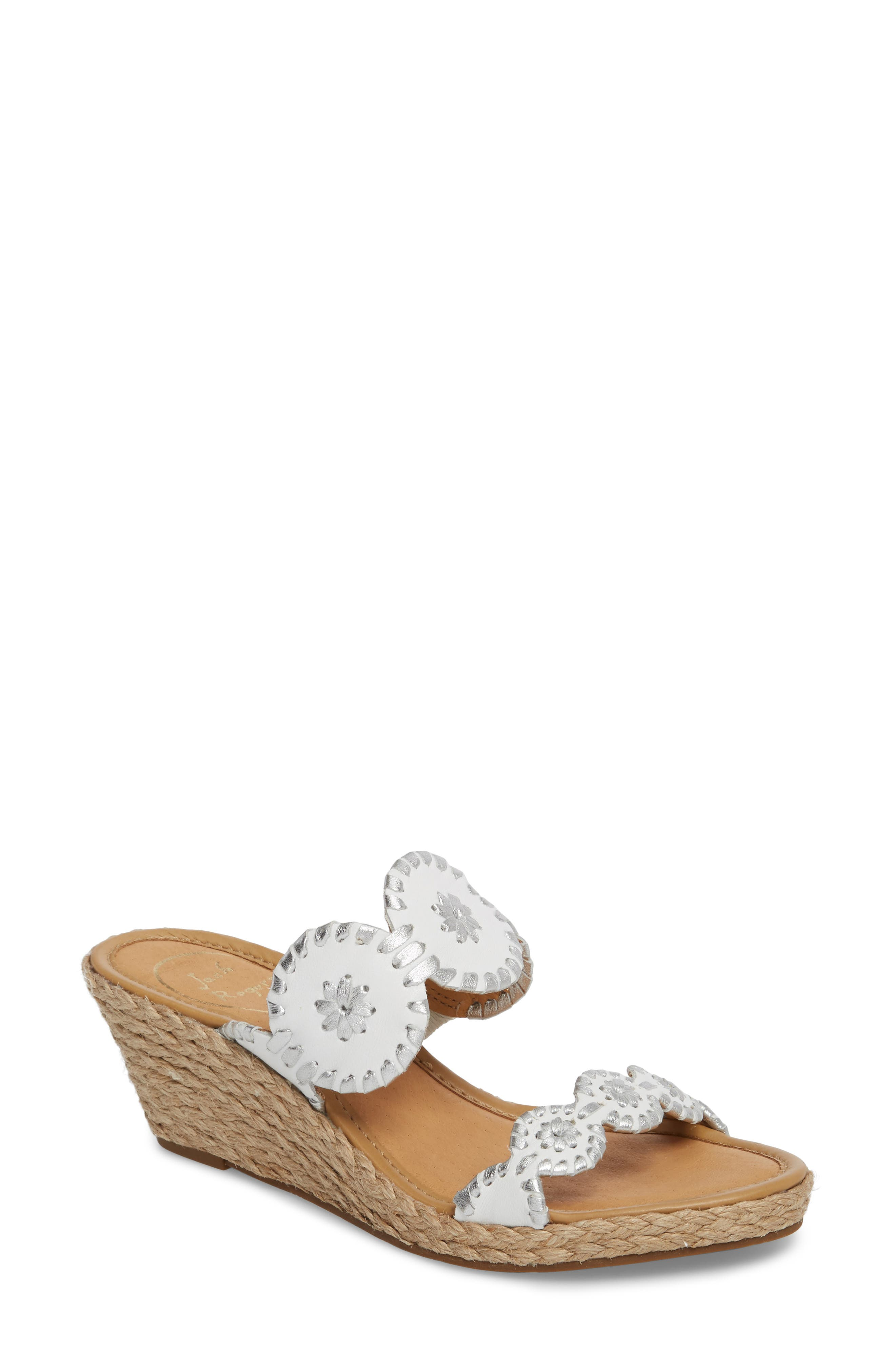 Jack Rogers 'Shelby' Whipstitched Wedge Sandal (Women)