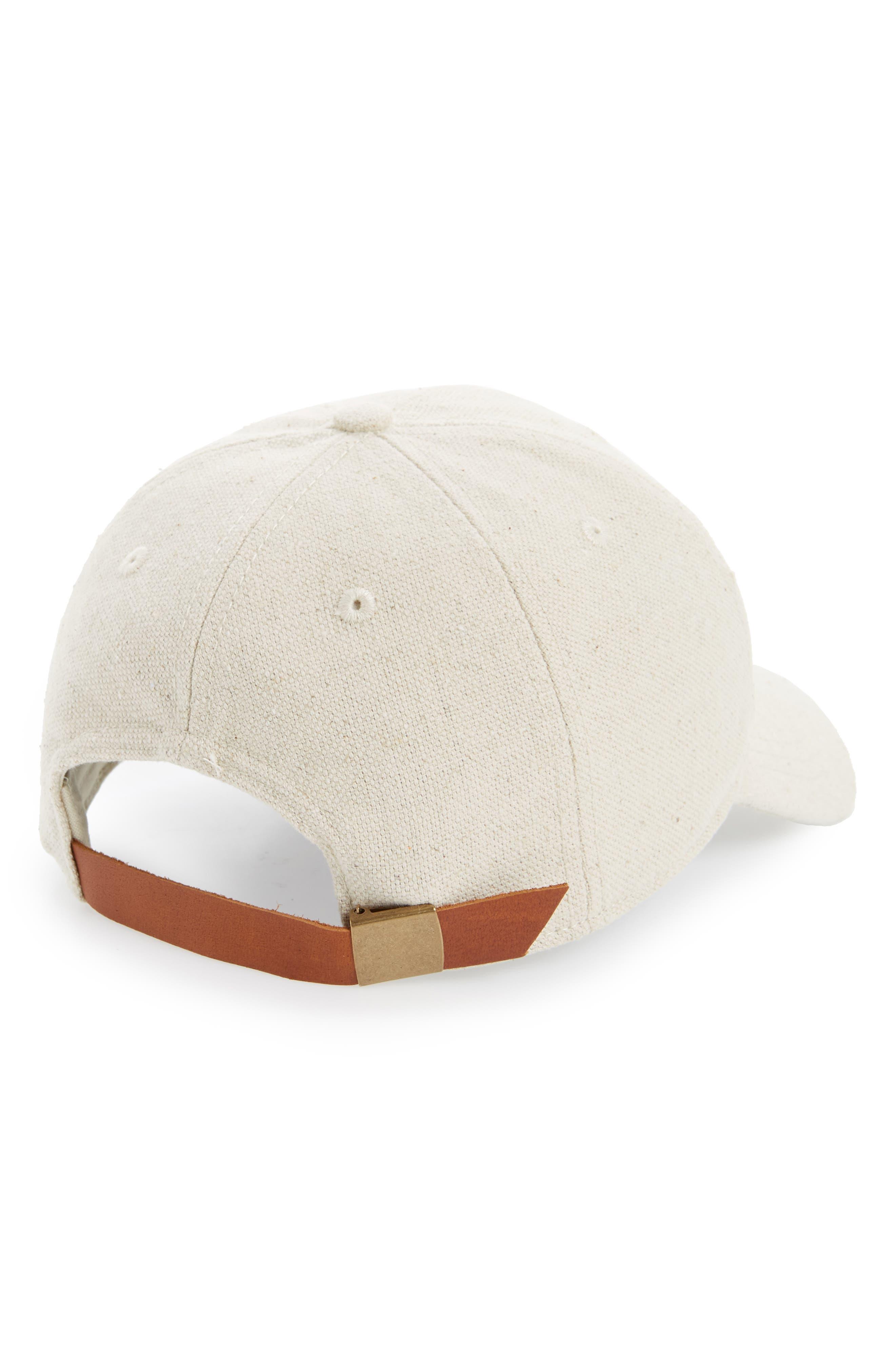 Cotton & Linen Baseball Cap,                             Alternate thumbnail 2, color,                             Canvas