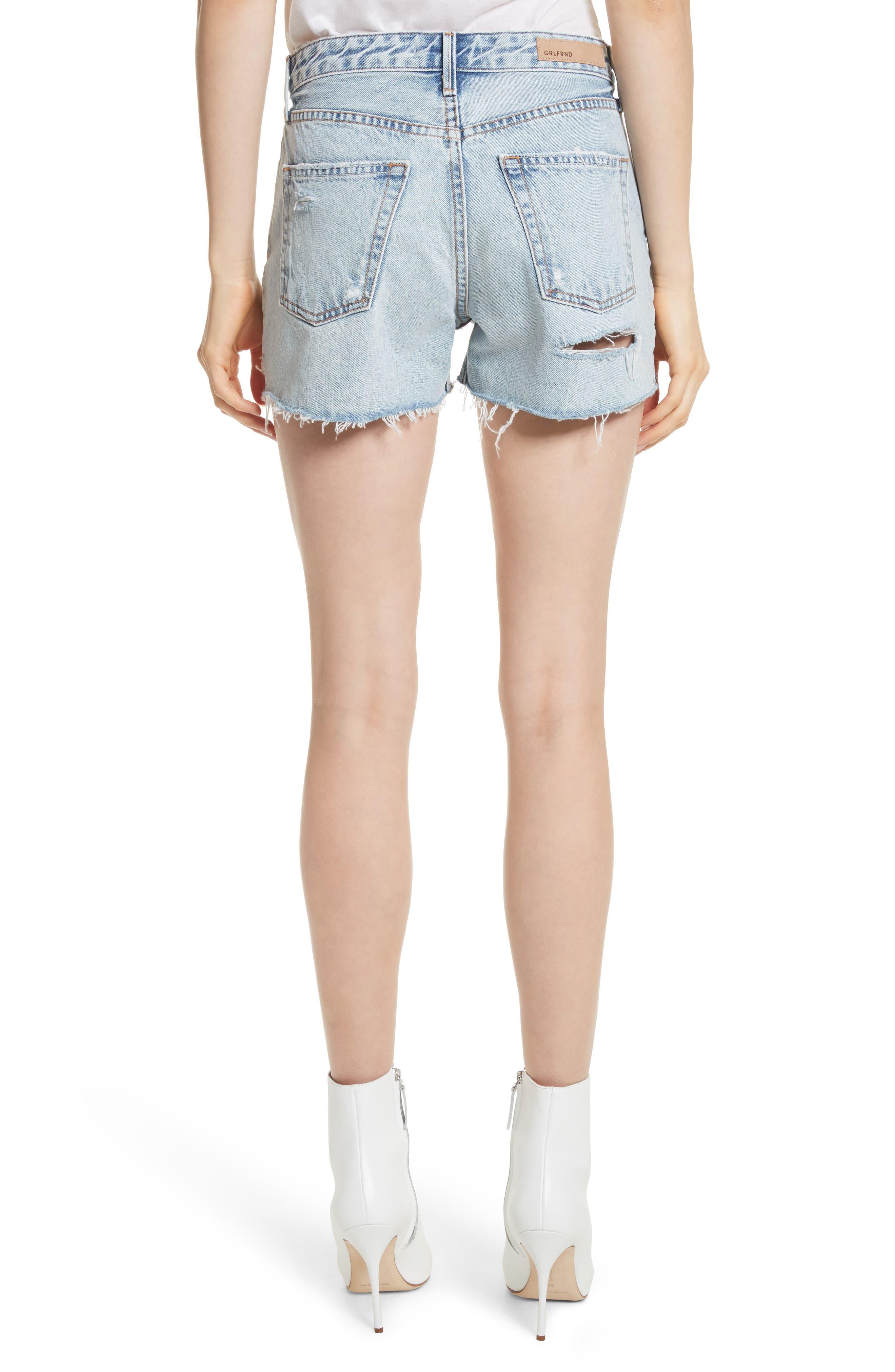 Helena Ripped Denim Shorts,                             Alternate thumbnail 2, color,                             Acetone