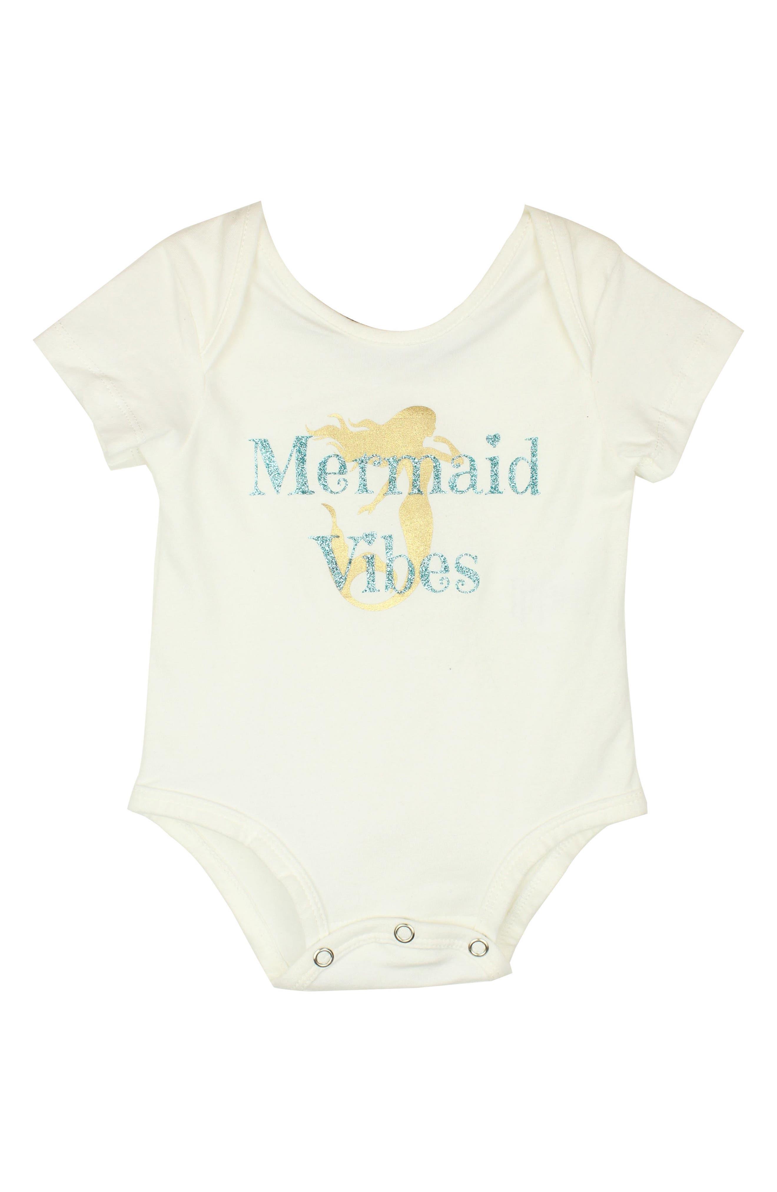Mermaid Vibes Bodysuit,                             Main thumbnail 1, color,                             White