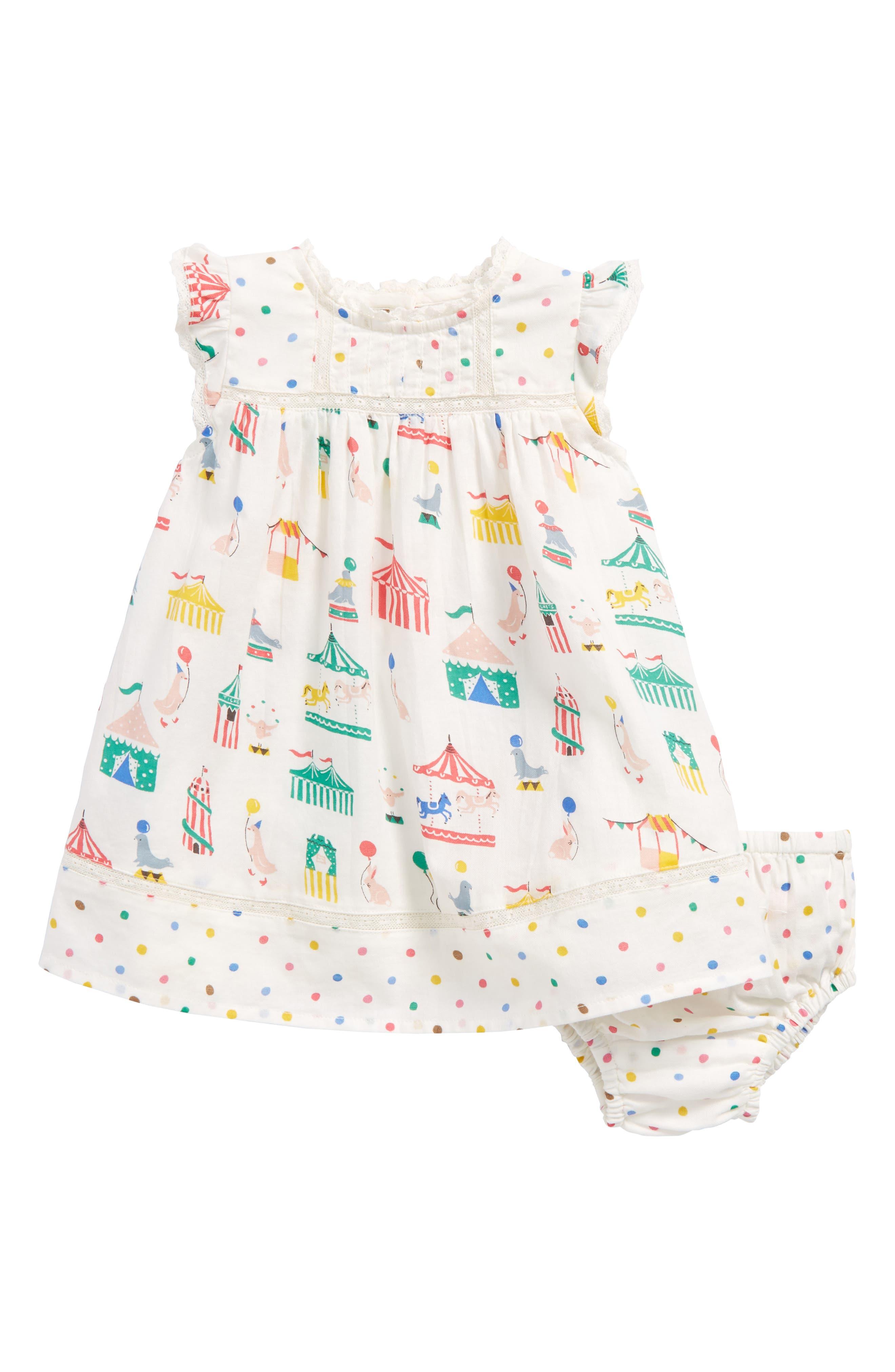 Mini Boden Hotchpotch Woven Dress (Baby Girls & Toddler Girls)