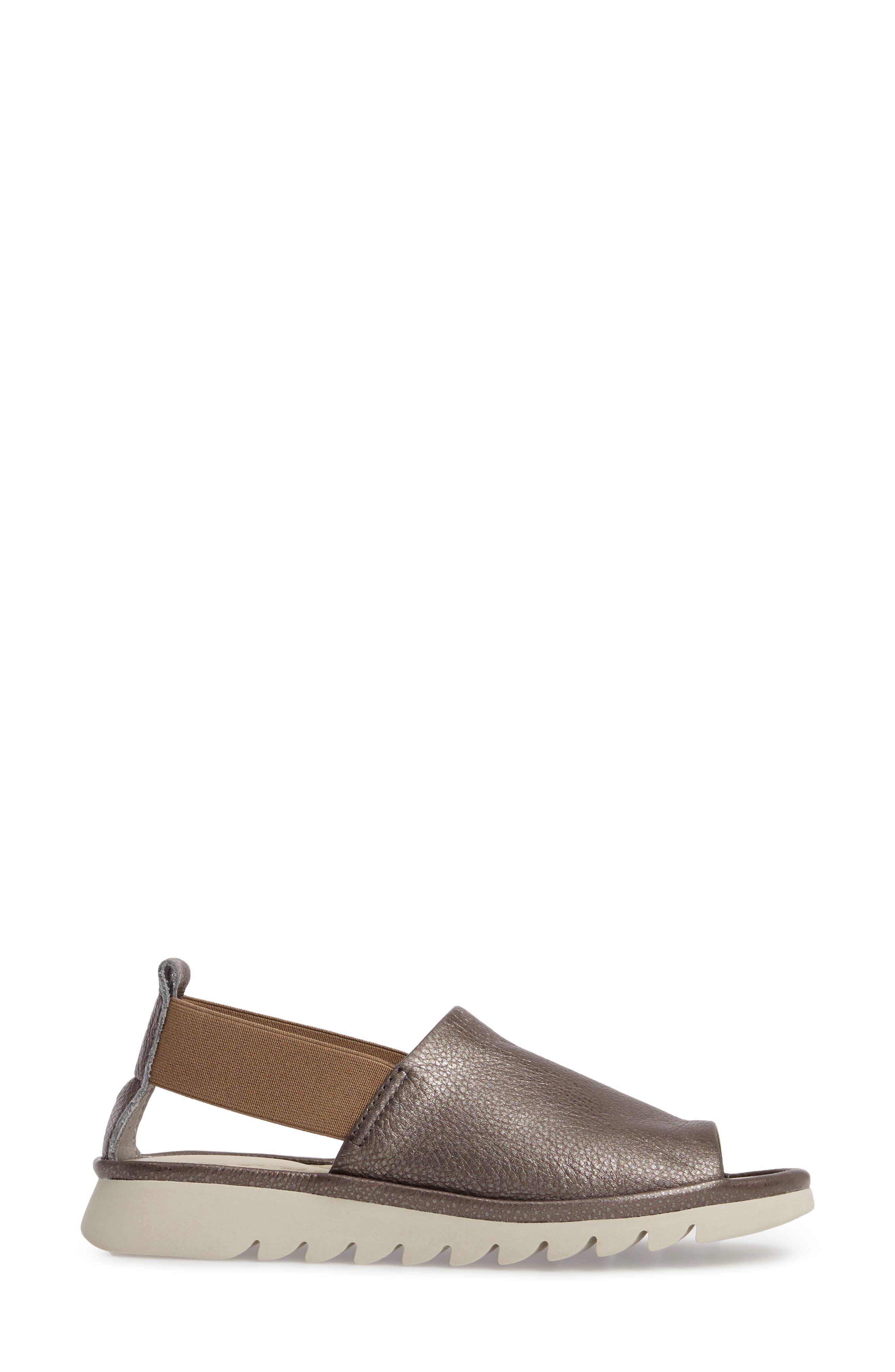 Shore Line Sandal,                             Alternate thumbnail 3, color,                             Canna Di Fucile Leather