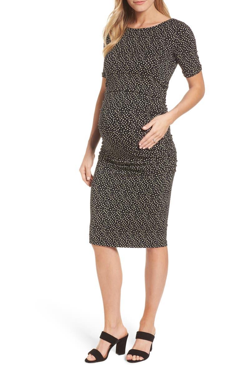 Danni Ruched Maternity Dress