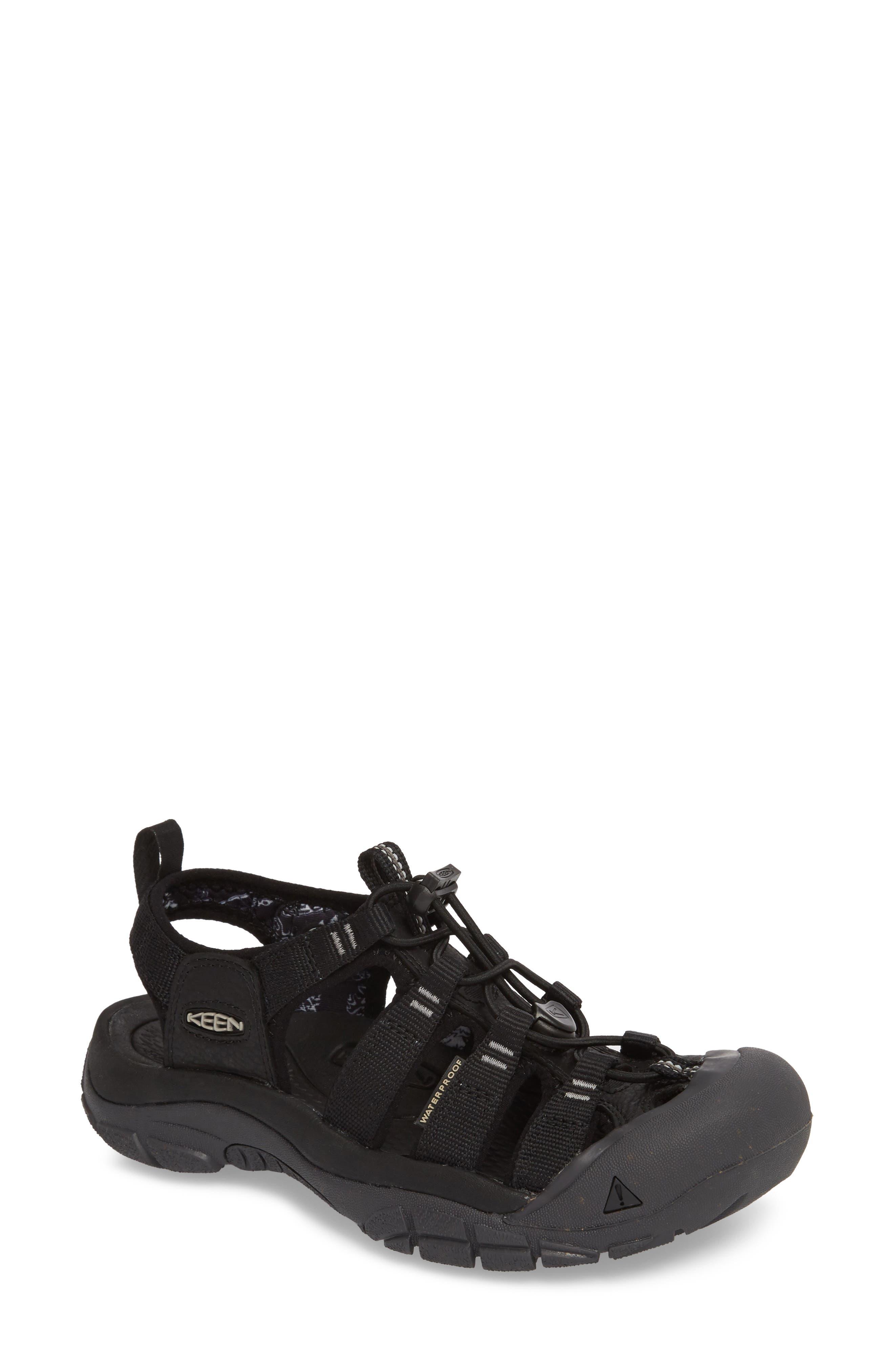 Newport Eco Waterproof Sandal,                             Main thumbnail 1, color,                             Black/ Magnet