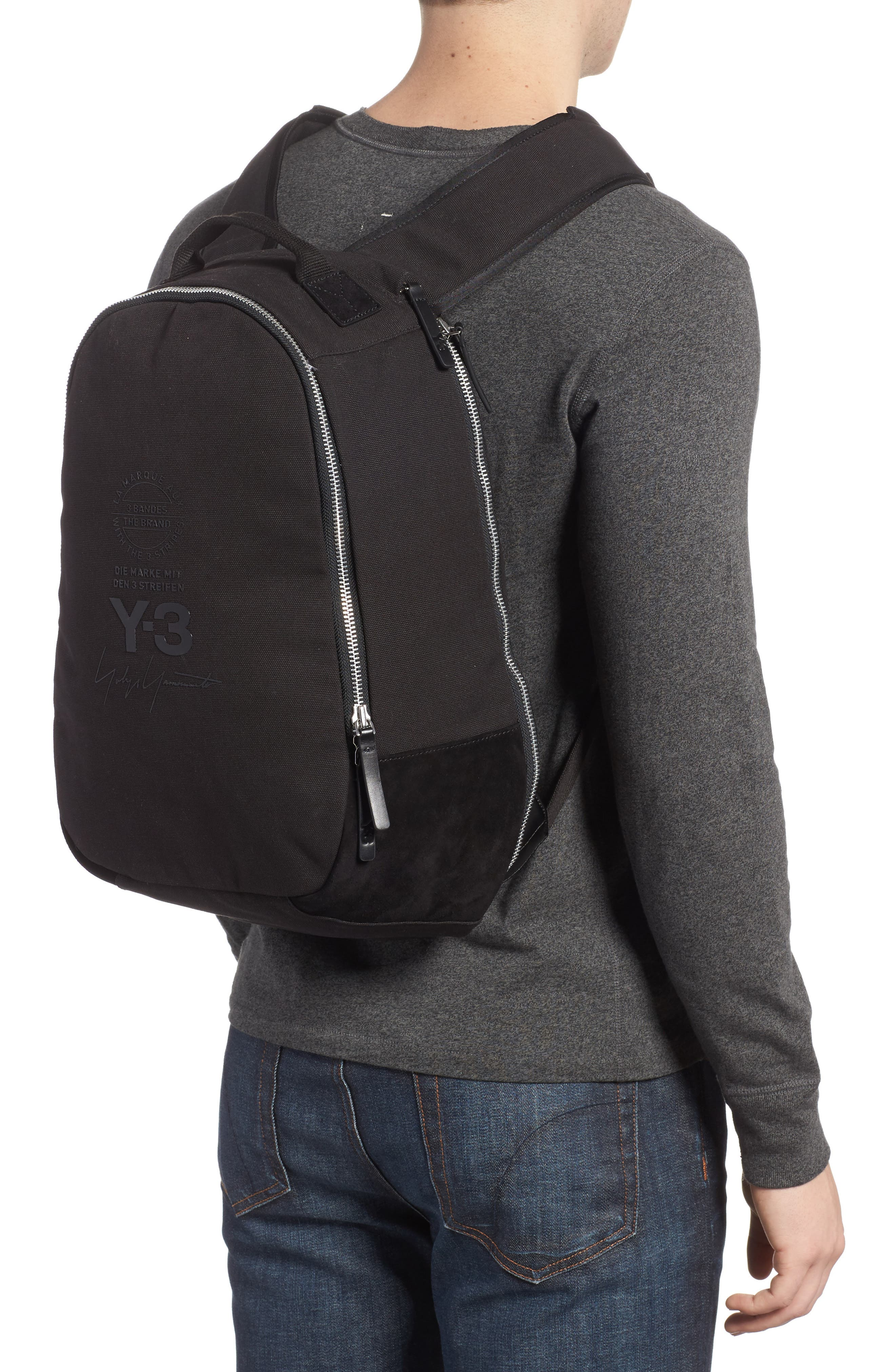 Logo Print Backpack,                             Alternate thumbnail 2, color,                             Black