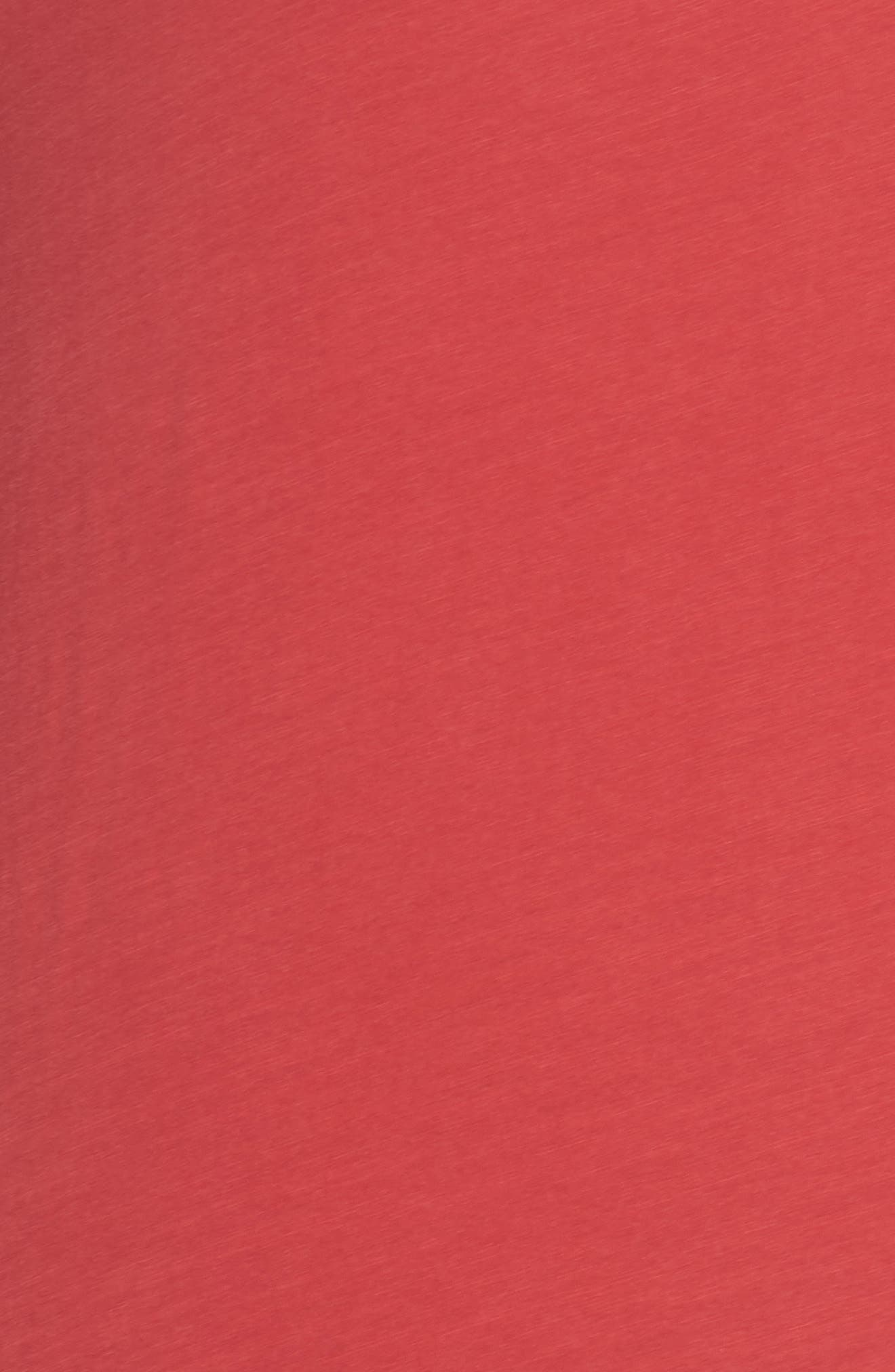 Flowers Tee,                             Alternate thumbnail 5, color,                             Red