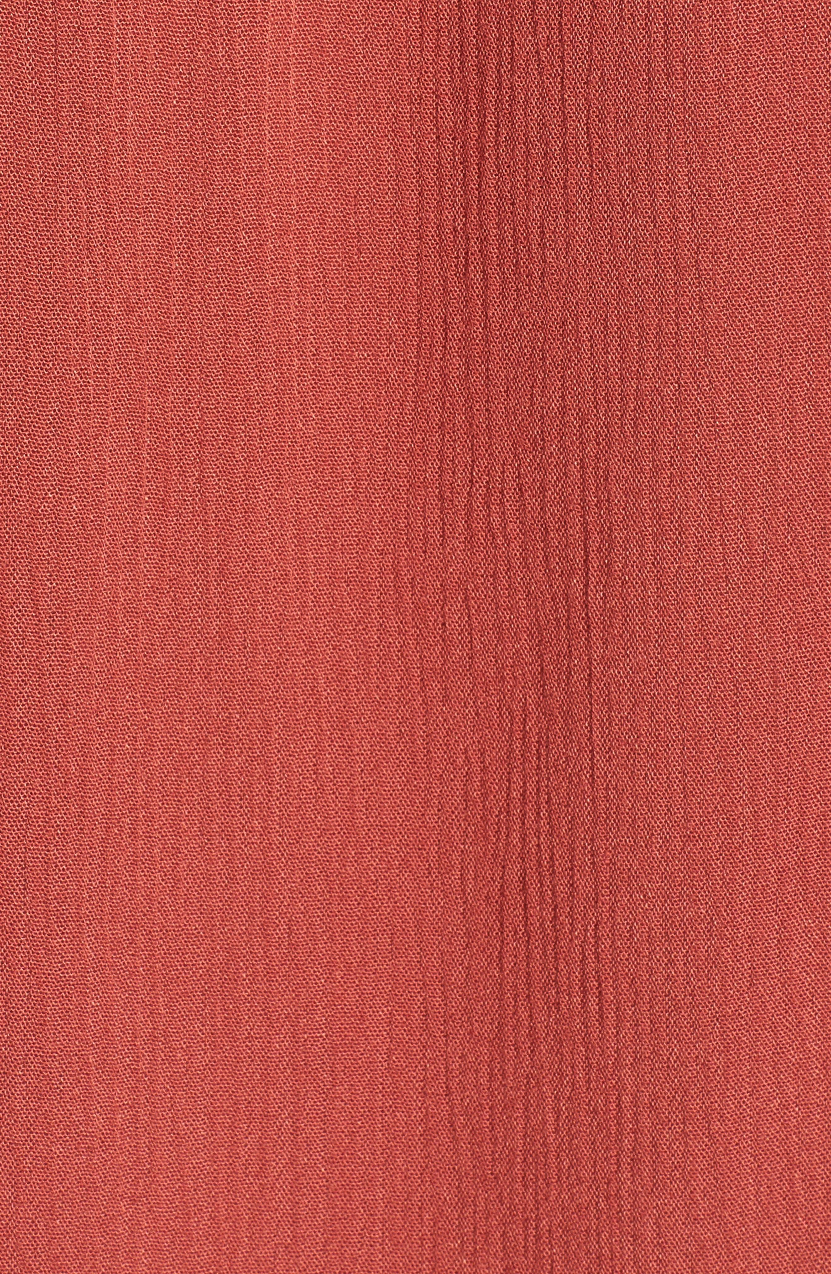 Nevada Cotton Henley Shirt,                             Alternate thumbnail 5, color,                             Firebrick
