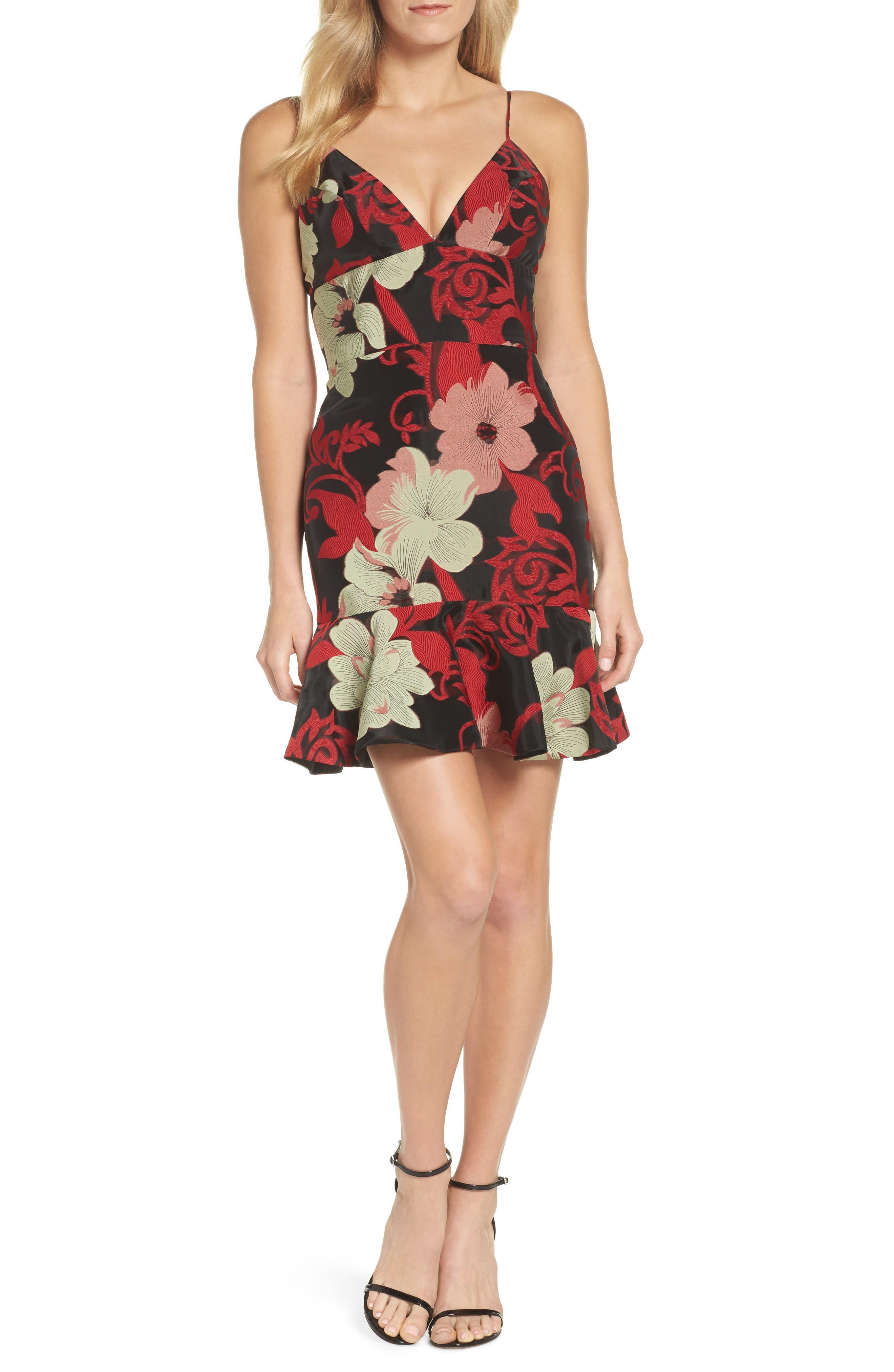 Deia Ruffle Dress,                         Main,                         color, Magnolia Multi