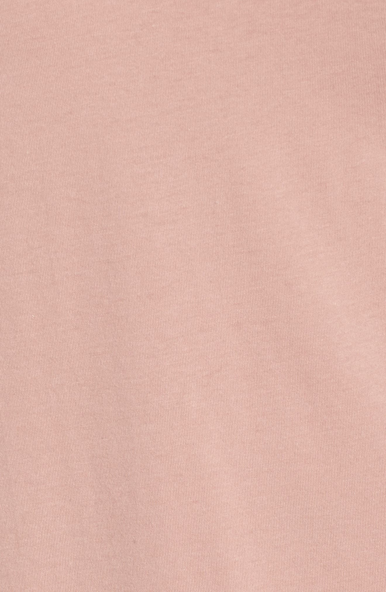 Illusion Neck Shift Dress,                             Alternate thumbnail 5, color,                             Dusty Pink