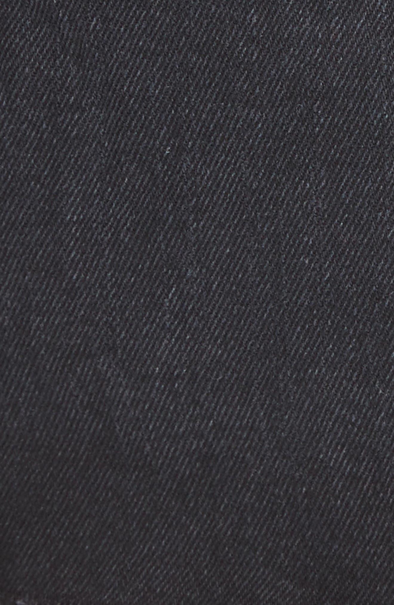 Denim A-Line Skirt,                             Alternate thumbnail 5, color,                             Black