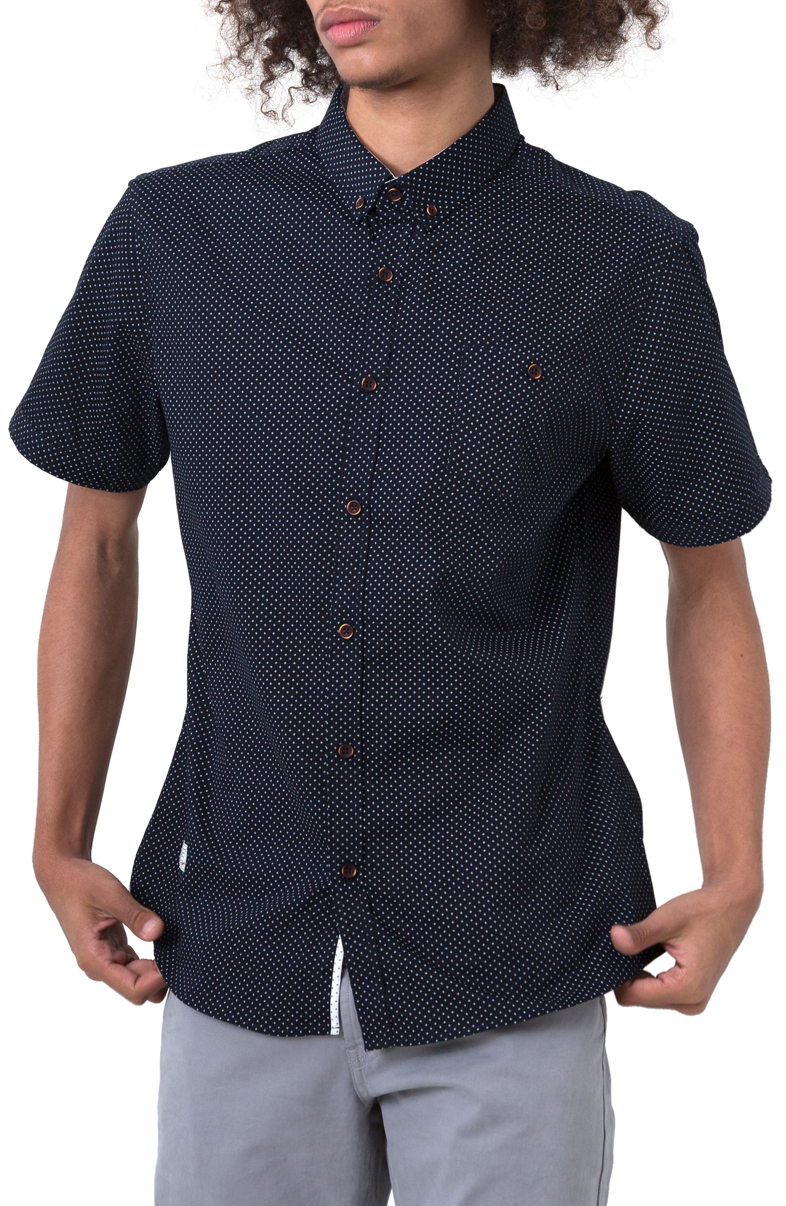 Formation Woven Shirt,                         Main,                         color, Navy