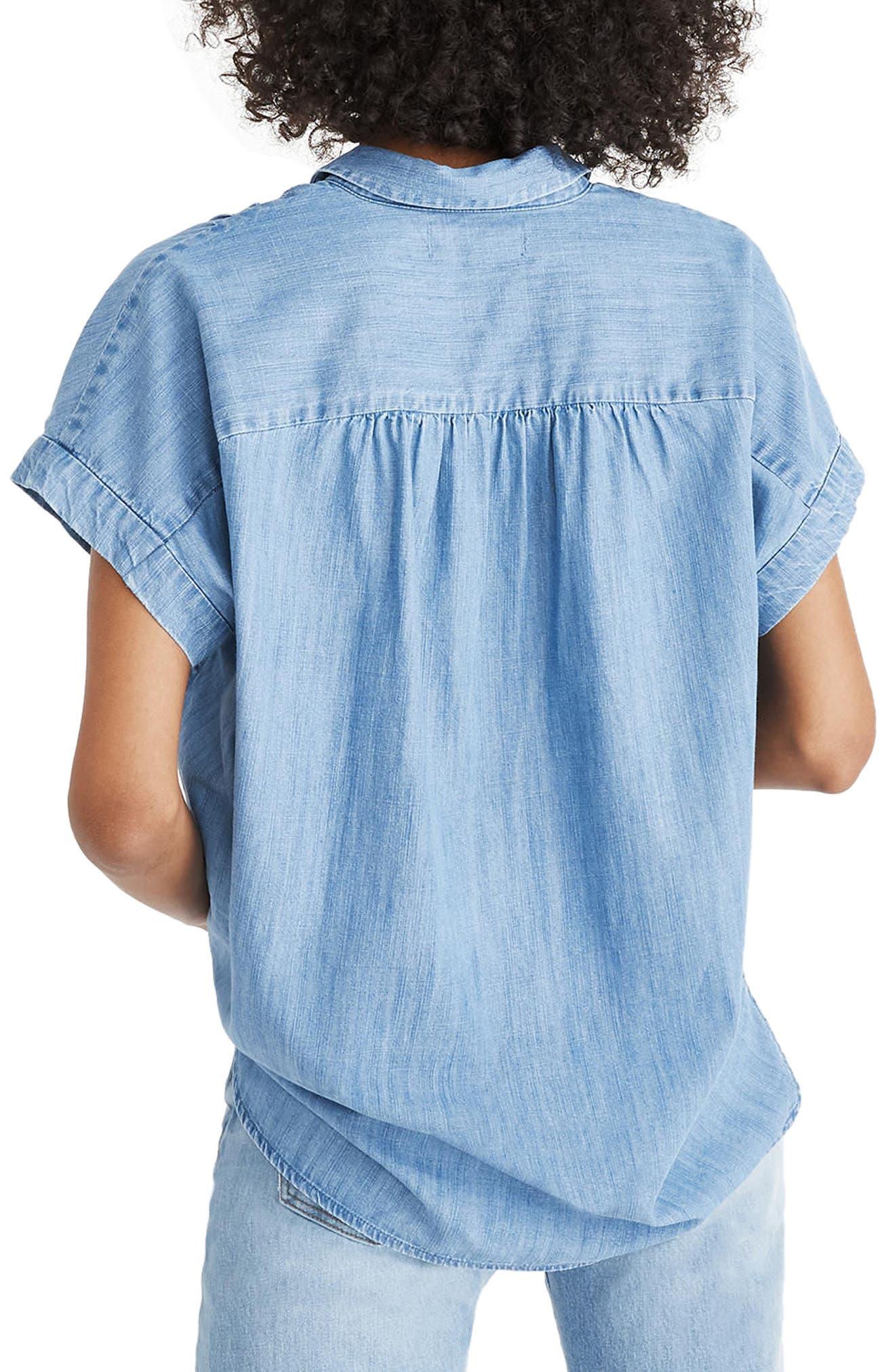 Central Chambray Shirt,                             Alternate thumbnail 2, color,                             Roberta Wash