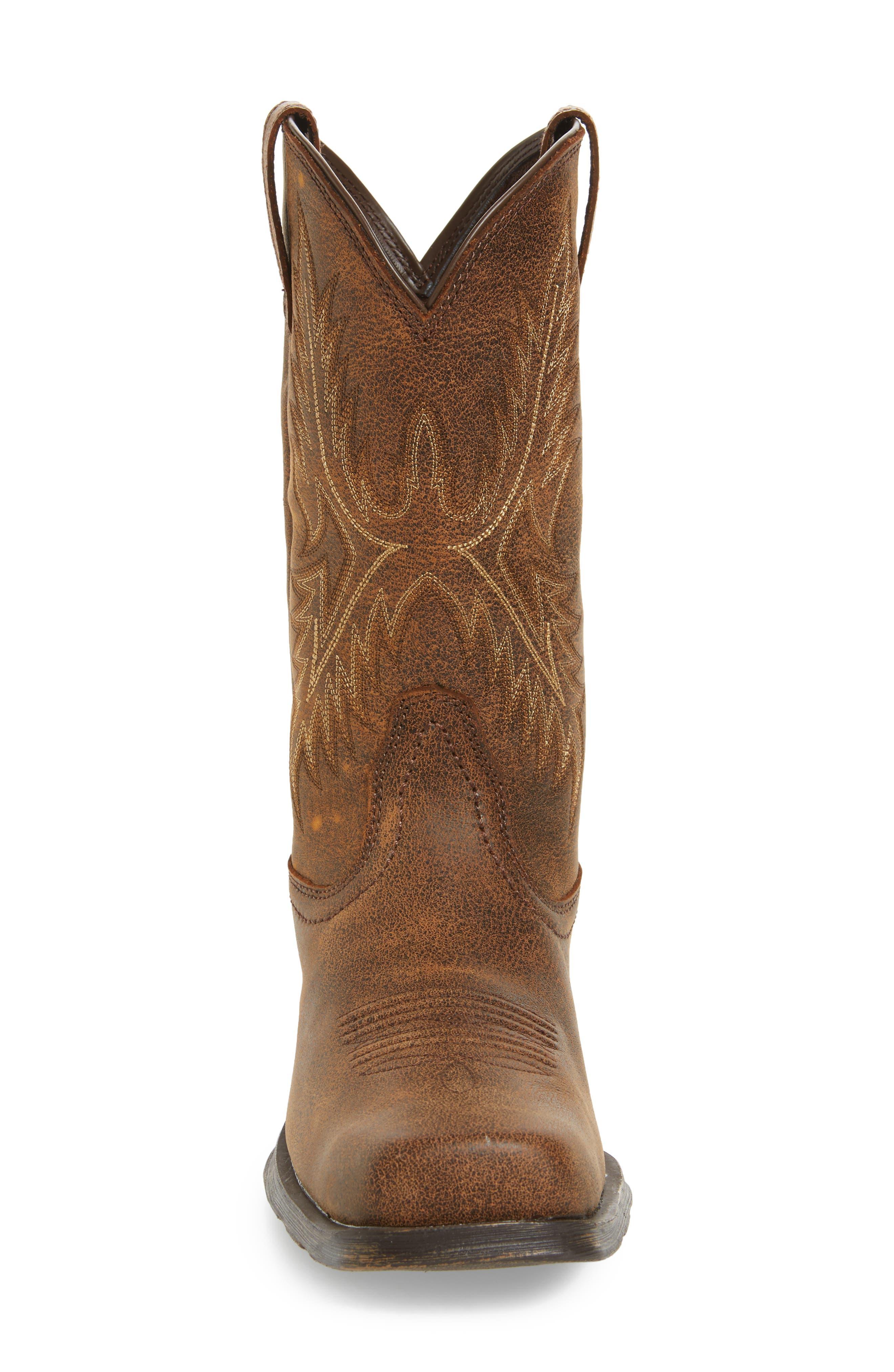 Western Rambler Cowboy Boot,                             Alternate thumbnail 4, color,                             Vintage Bomber Leather