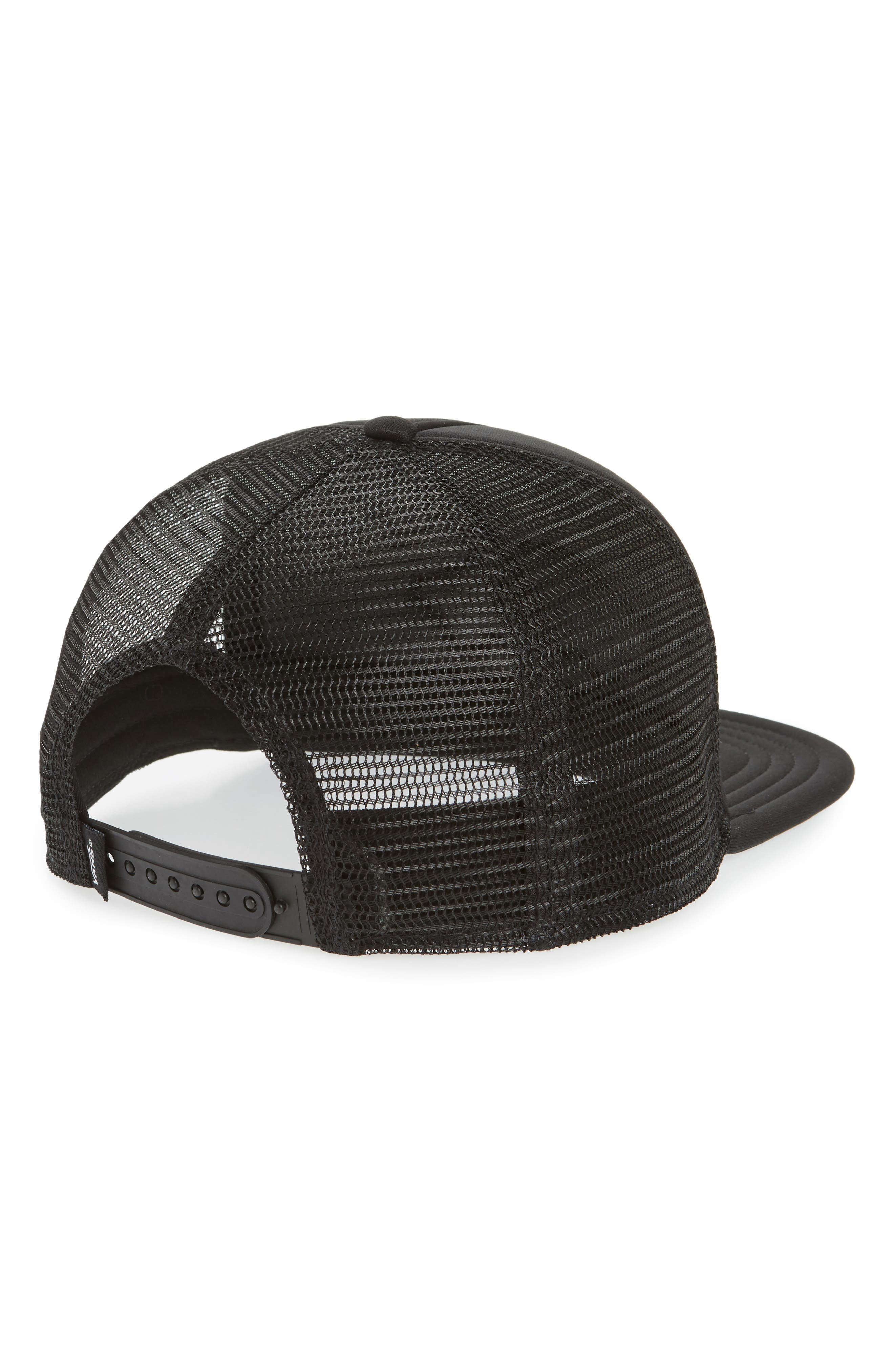 Classic Patch Trucker Hat,                             Alternate thumbnail 2, color,                             Black