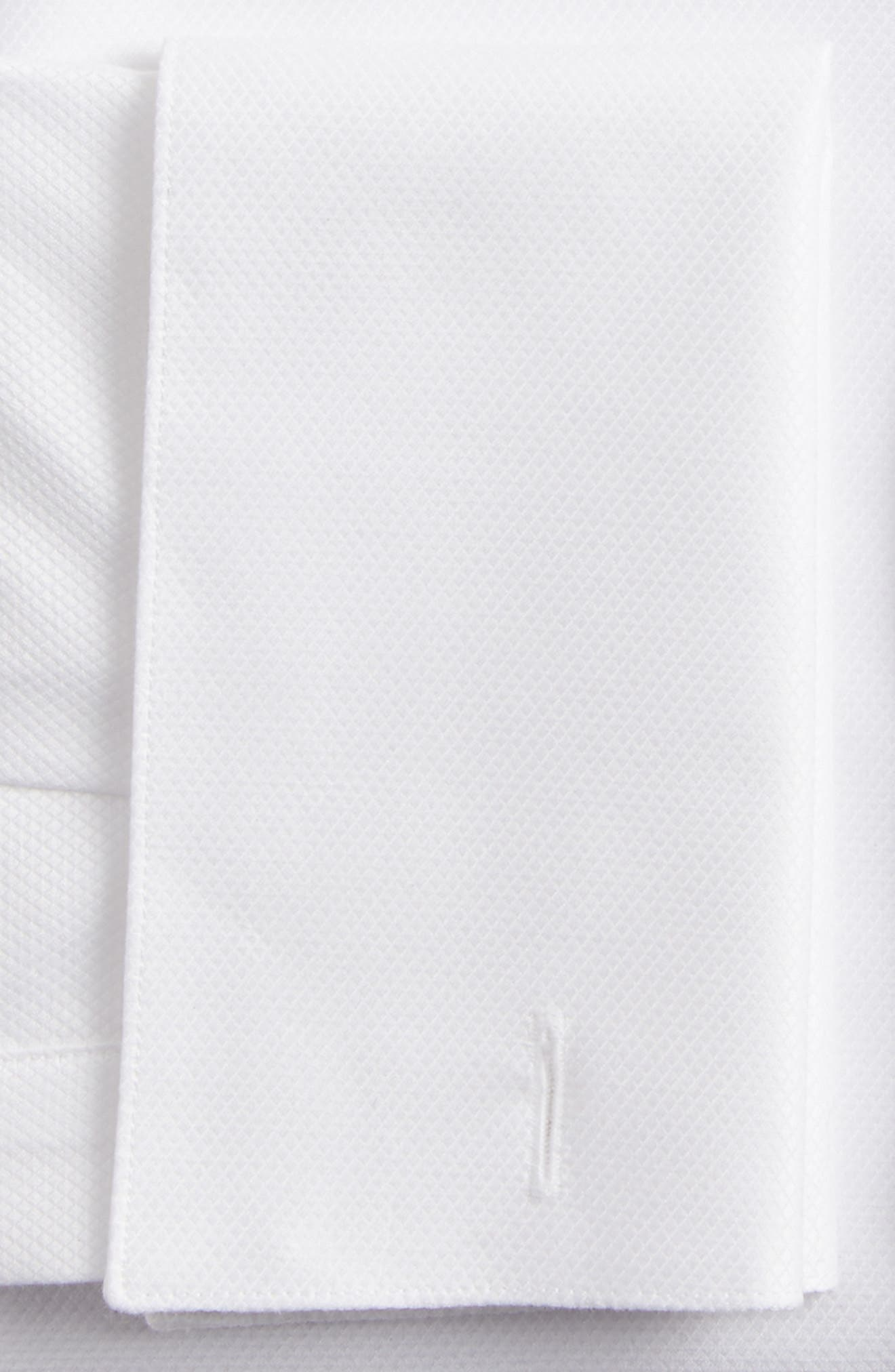 Slim Fit Tuxedo Shirt,                             Alternate thumbnail 5, color,                             White