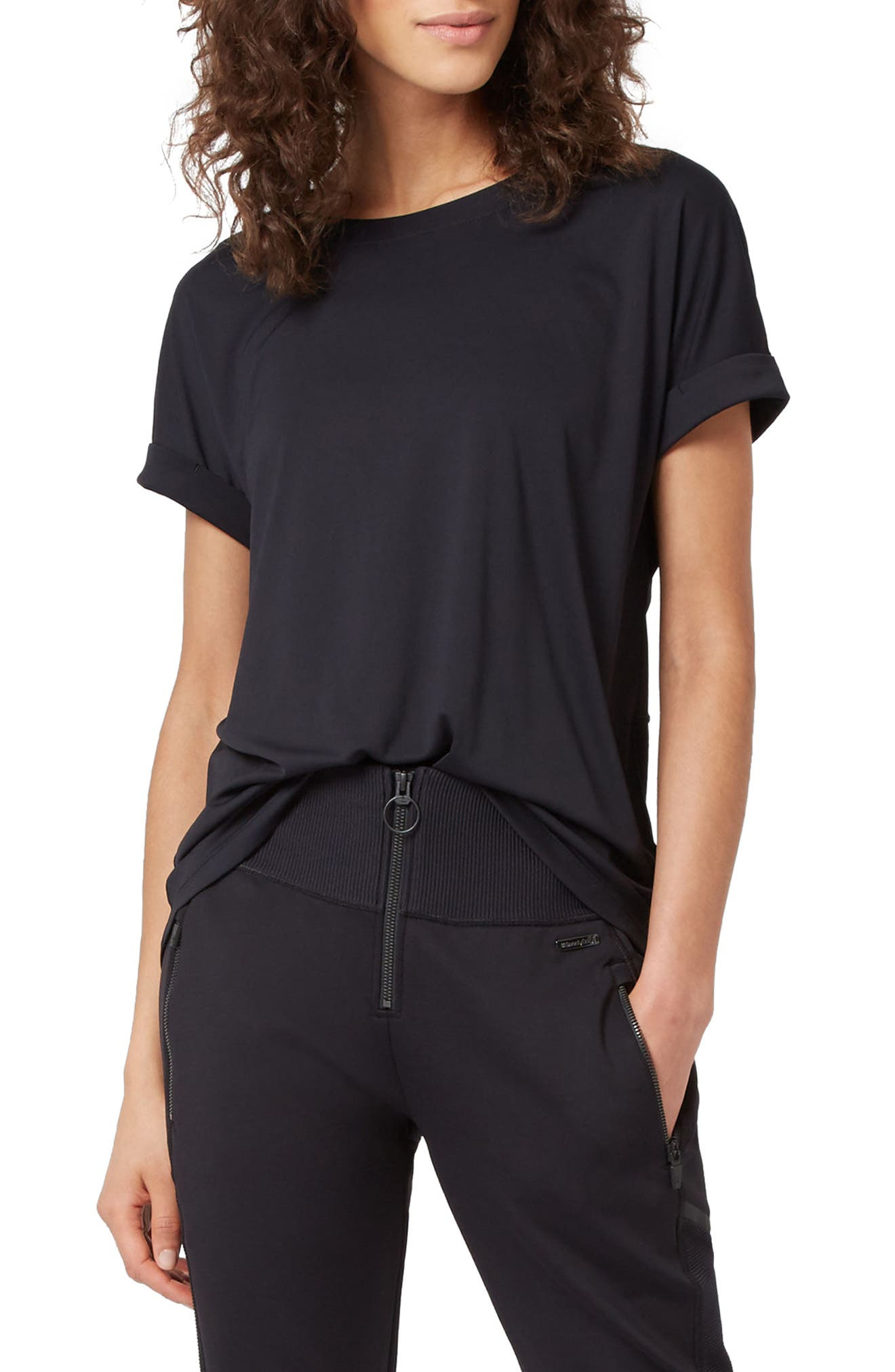 Ab Crunch Tee,                         Main,                         color, Black