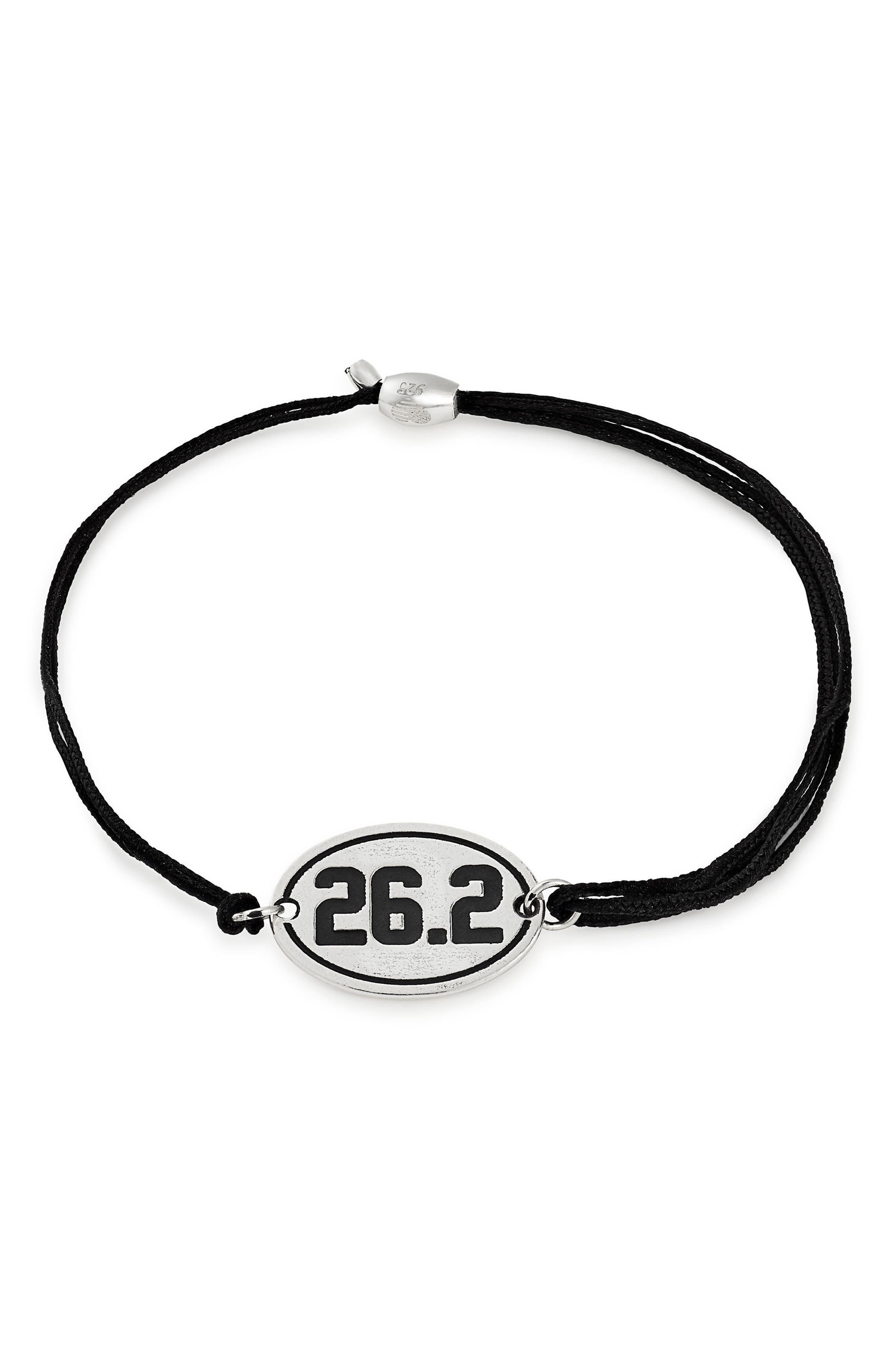 Kindred Cord Marathon 26.2 Bracelet,                         Main,                         color, Silver