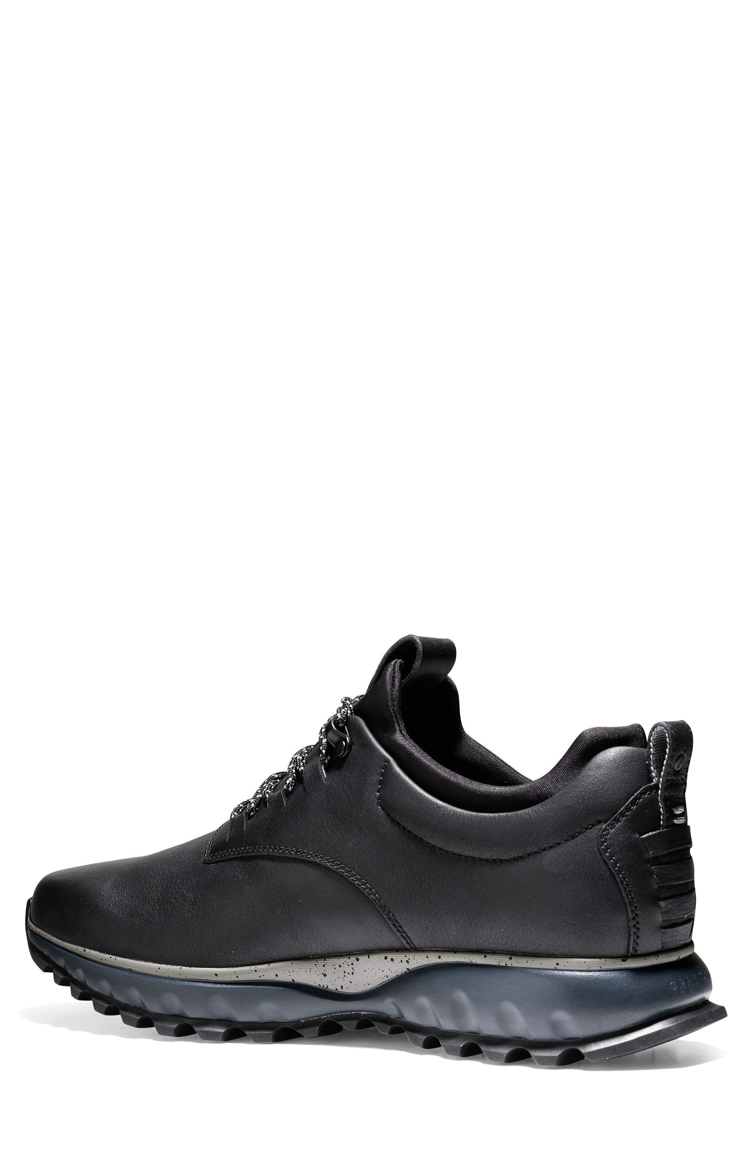 GrandExpløre All Terrain Waterproof Sneaker,                             Alternate thumbnail 2, color,                             Black/ Ironstone Leather
