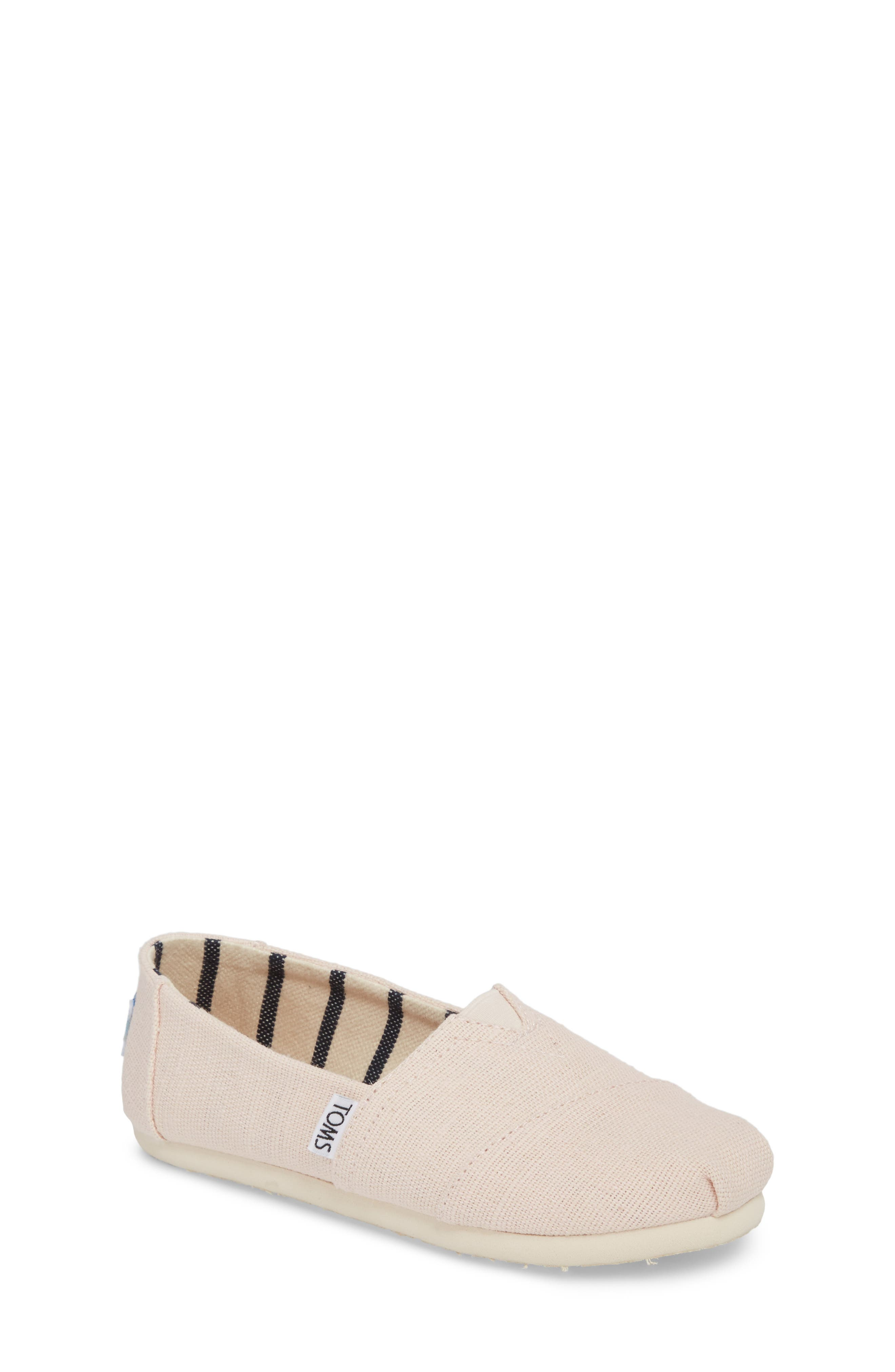 Classic Print Slip-On,                             Main thumbnail 1, color,                             Pink Whisper Heritage Canvas