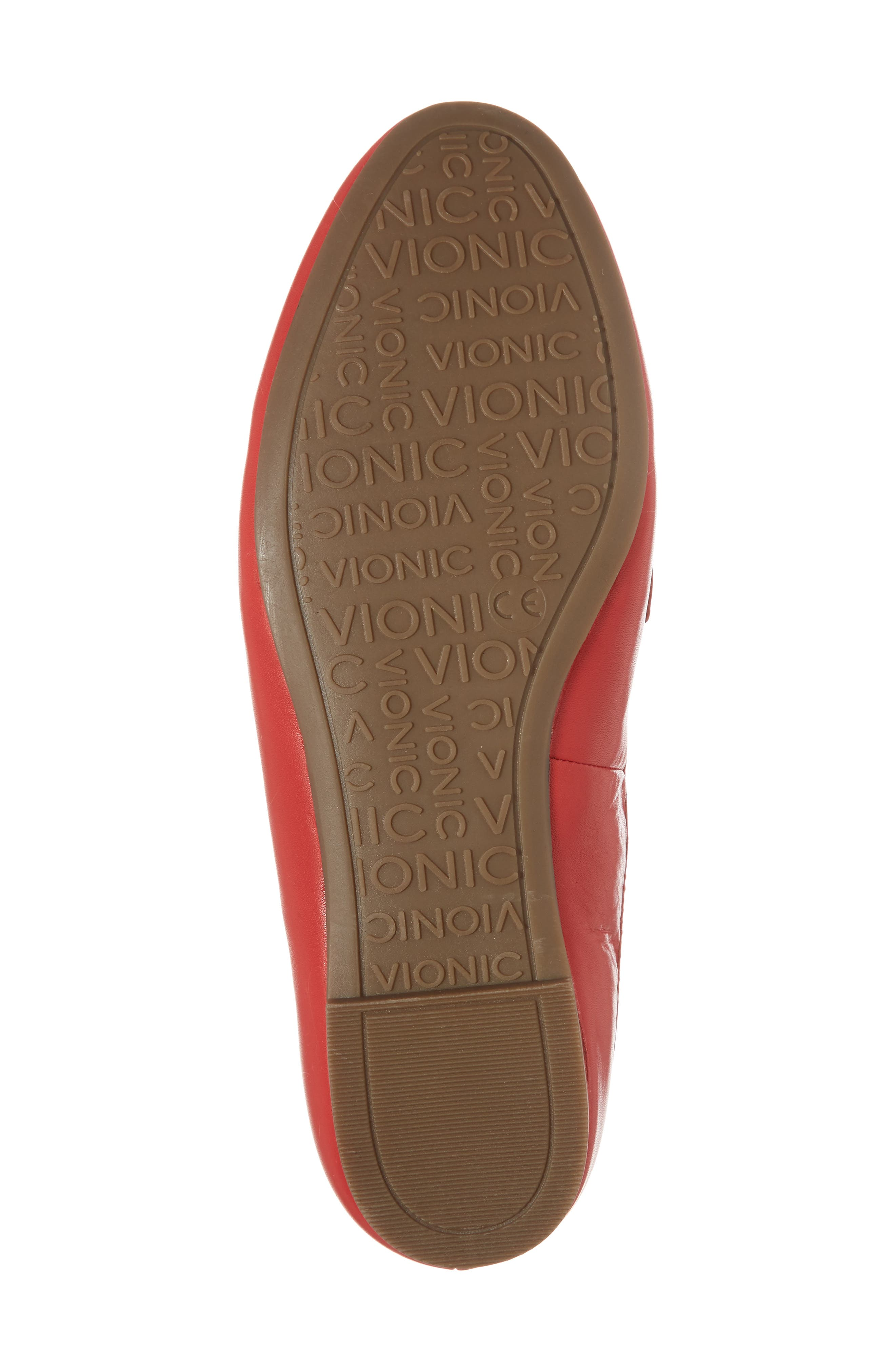 Adeline Mule,                             Alternate thumbnail 6, color,                             Red Leather