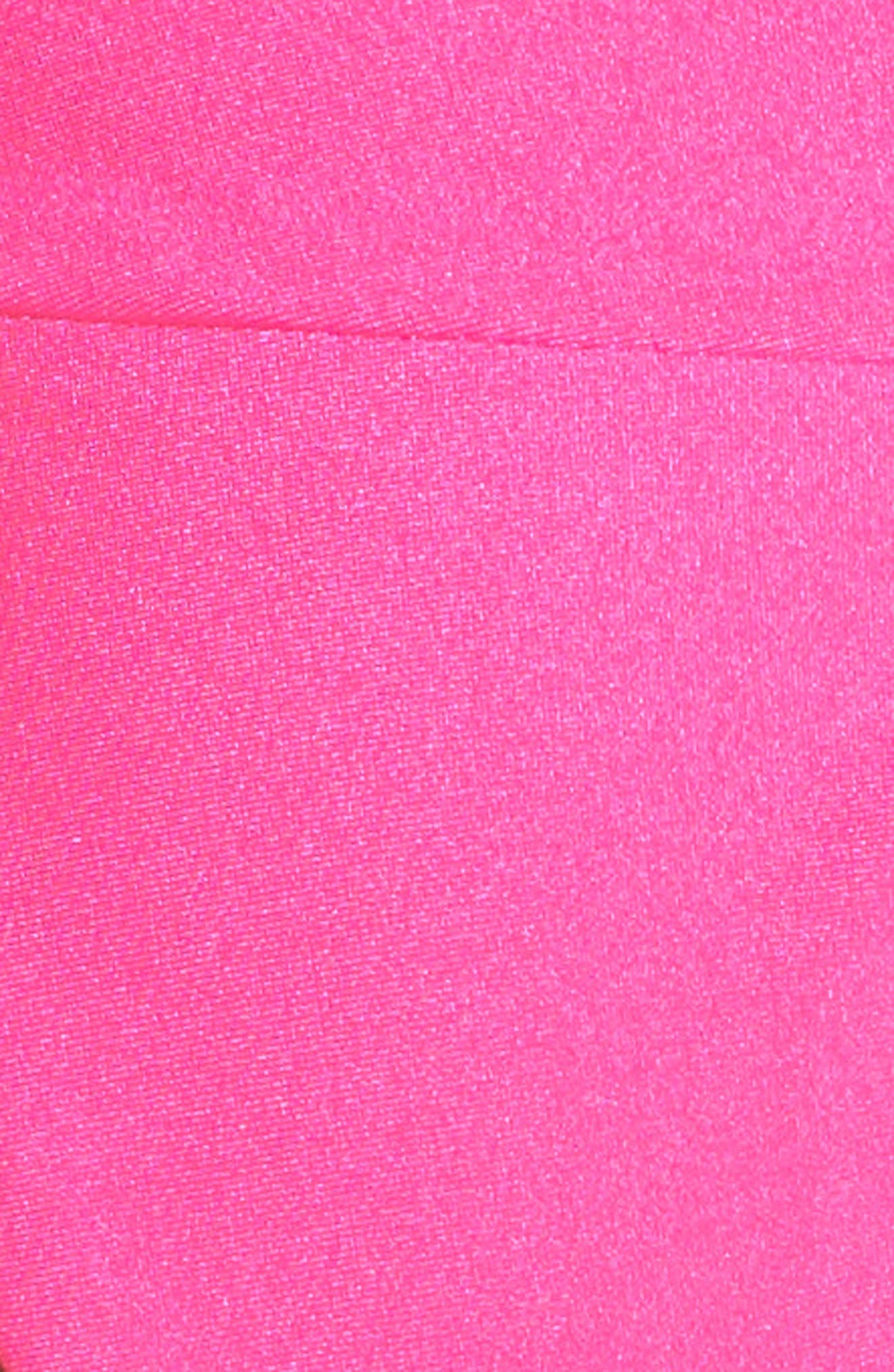 Tubular Solid Bikini Bottoms,                             Alternate thumbnail 8, color,                             Miami Pink