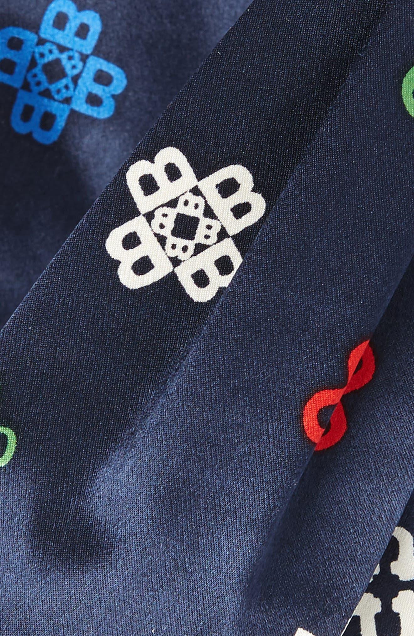 Alternate Image 2  - Tory Burch Alphabet Print Silk Headband