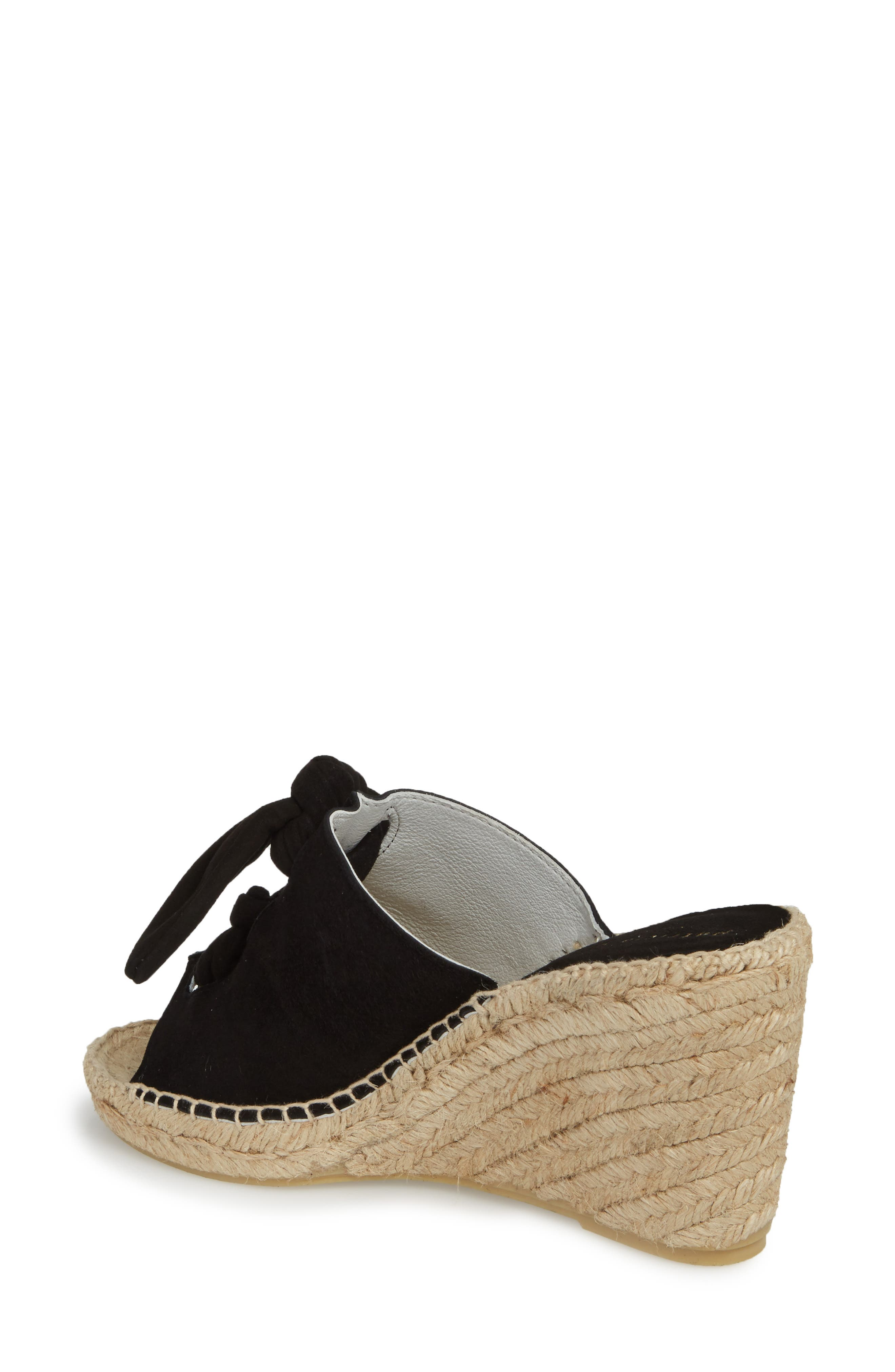 Flirt Espadrille Wedge Sandal,                             Alternate thumbnail 2, color,                             Black Suede