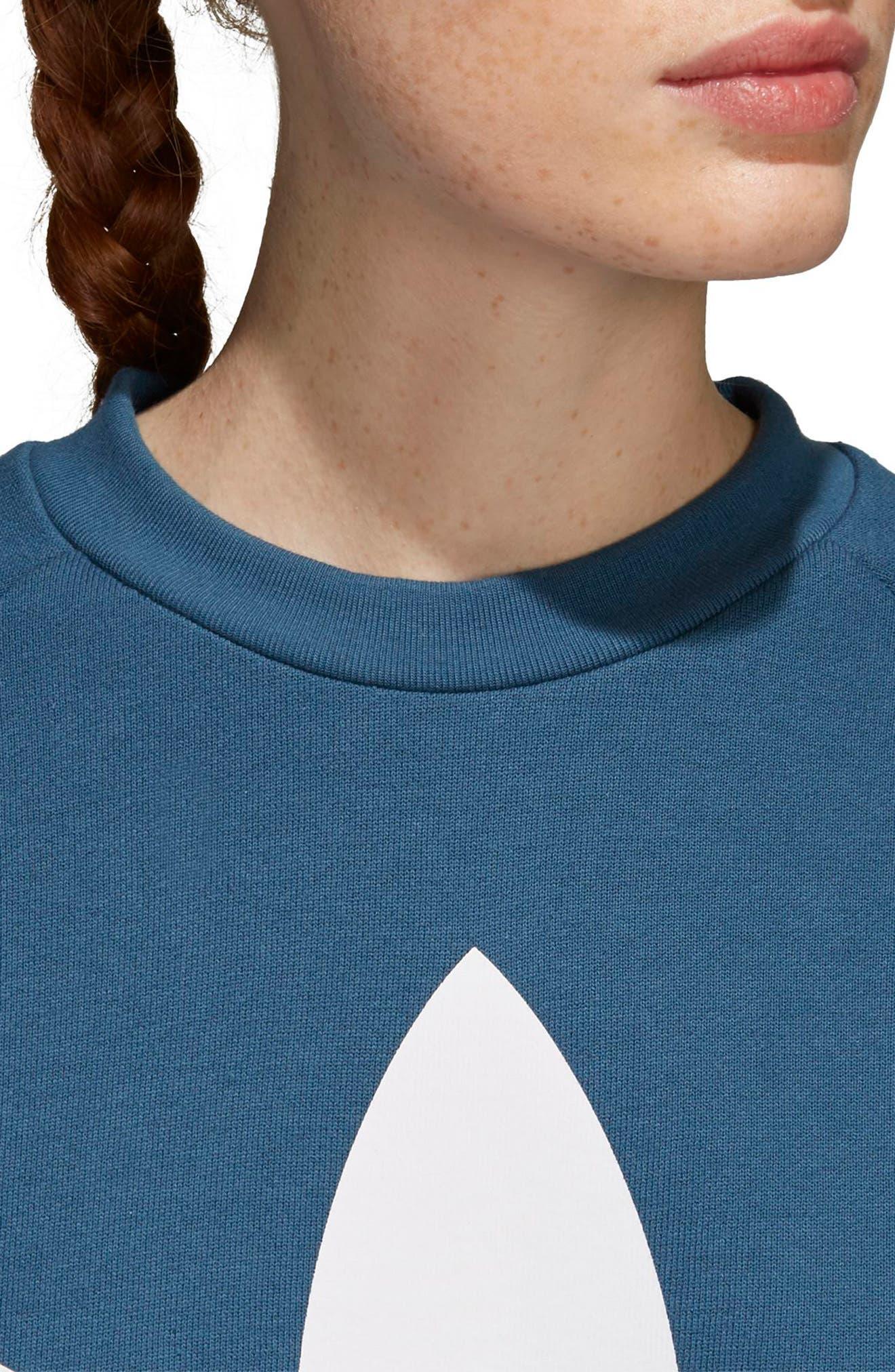 Originals Oversize Sweatshirt,                             Alternate thumbnail 4, color,                             Dark Steel