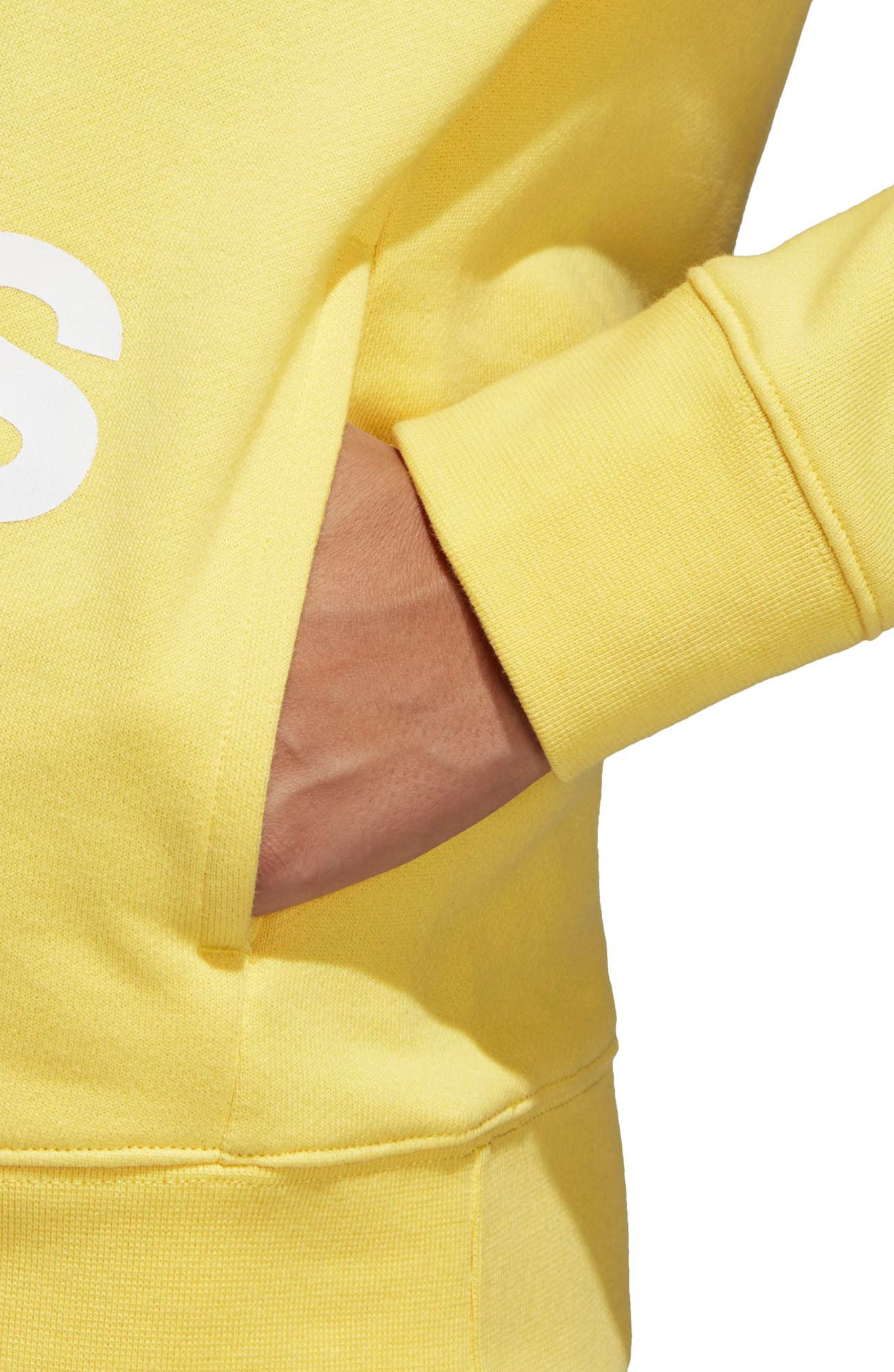 Originals Trefoil Hoodie,                             Alternate thumbnail 5, color,                             Intense Lemon