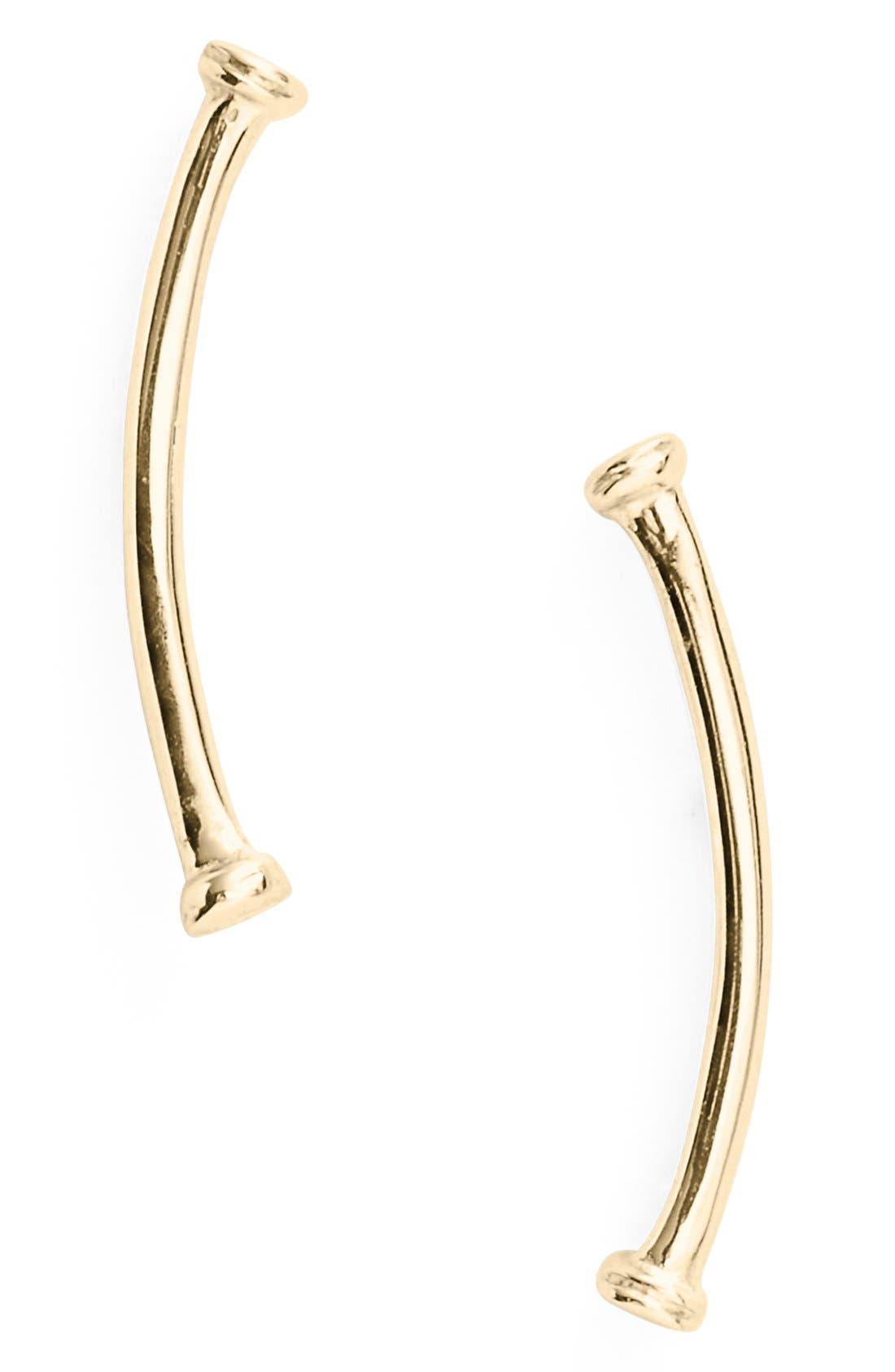 Alternate Image 1 Selected - Bony Levy Skinny Curve Bar Stud Earrings (Nordstrom Exclusive)