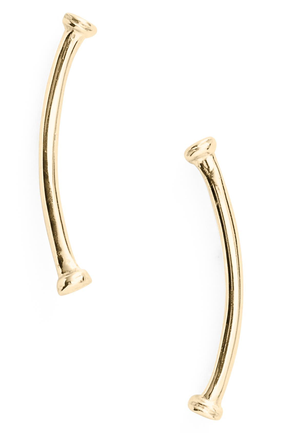 Bony Levy Skinny Curve Bar Stud Earrings (Nordstrom Exclusive)