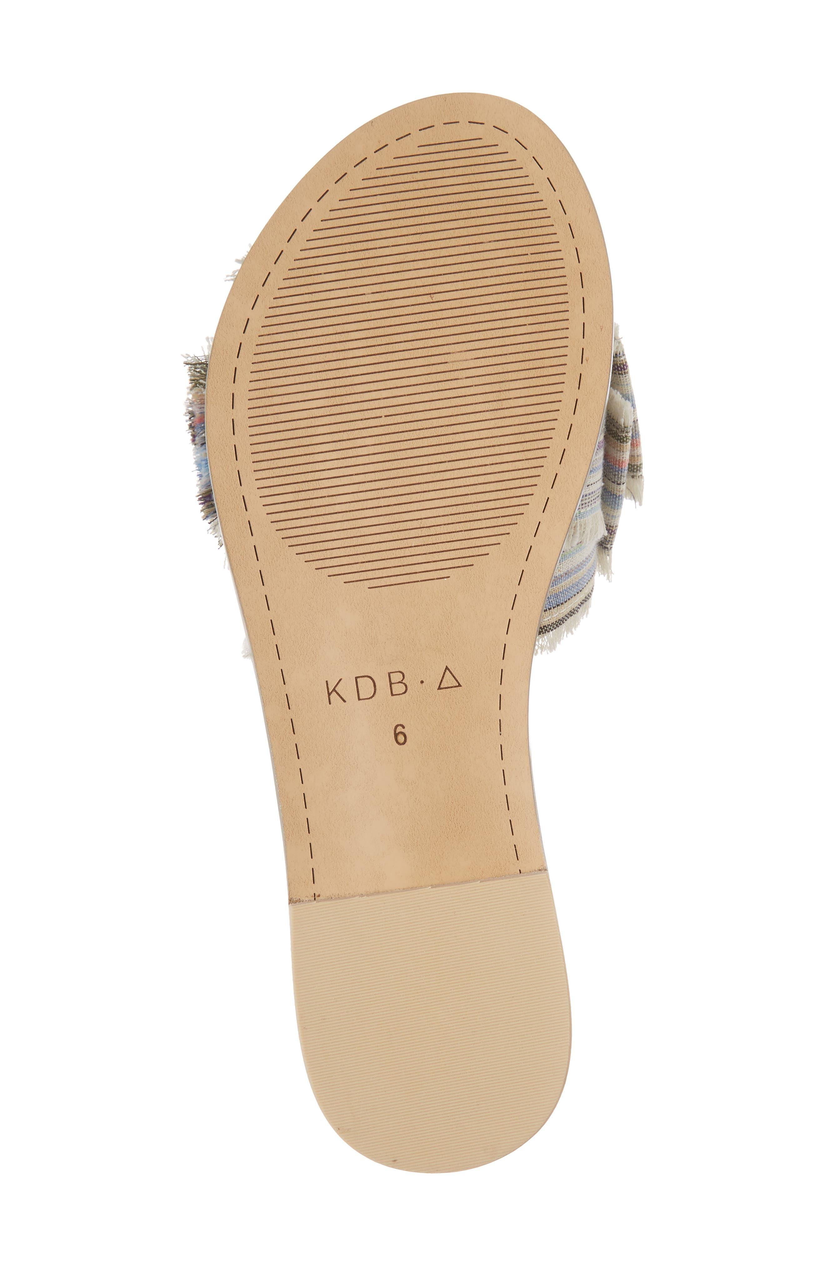 Revere Bow Slide Sandal,                             Alternate thumbnail 6, color,                             Bone/ Multi