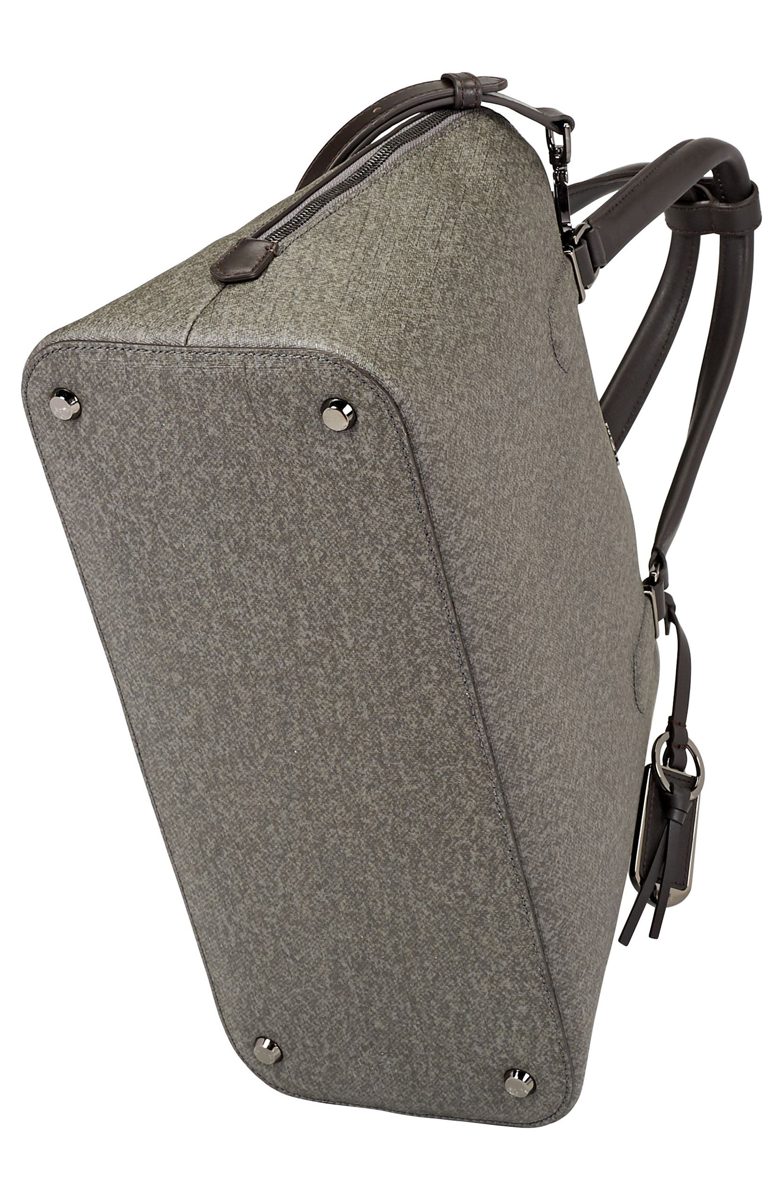 Stanton – Deonne Domed Coated Canvas Satchel,                             Alternate thumbnail 5, color,                             Earl Grey