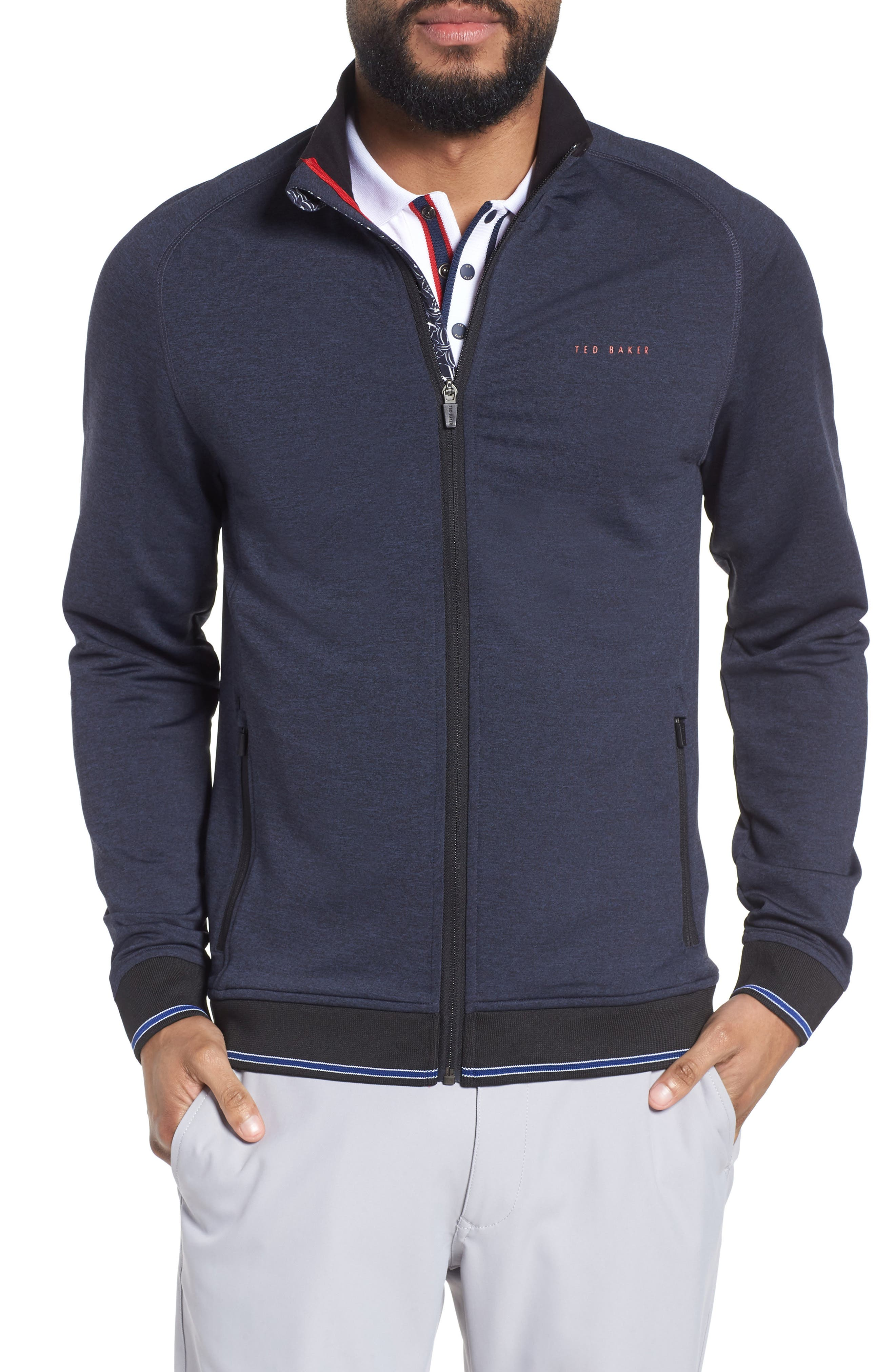 Main Image - Ted Baker London Parway Knit Golf Jacket