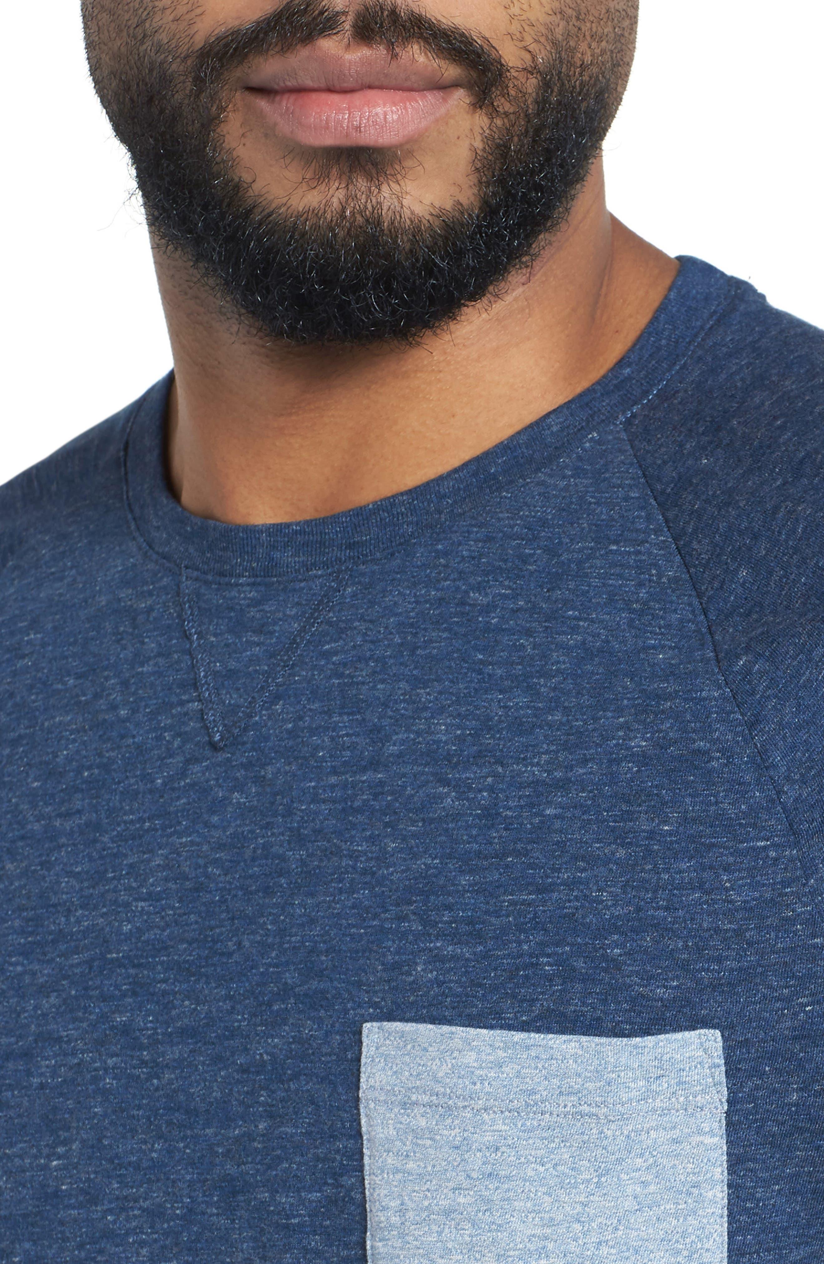 Tessler Slim Fit Pocket T-Shirt,                             Alternate thumbnail 4, color,                             Blue