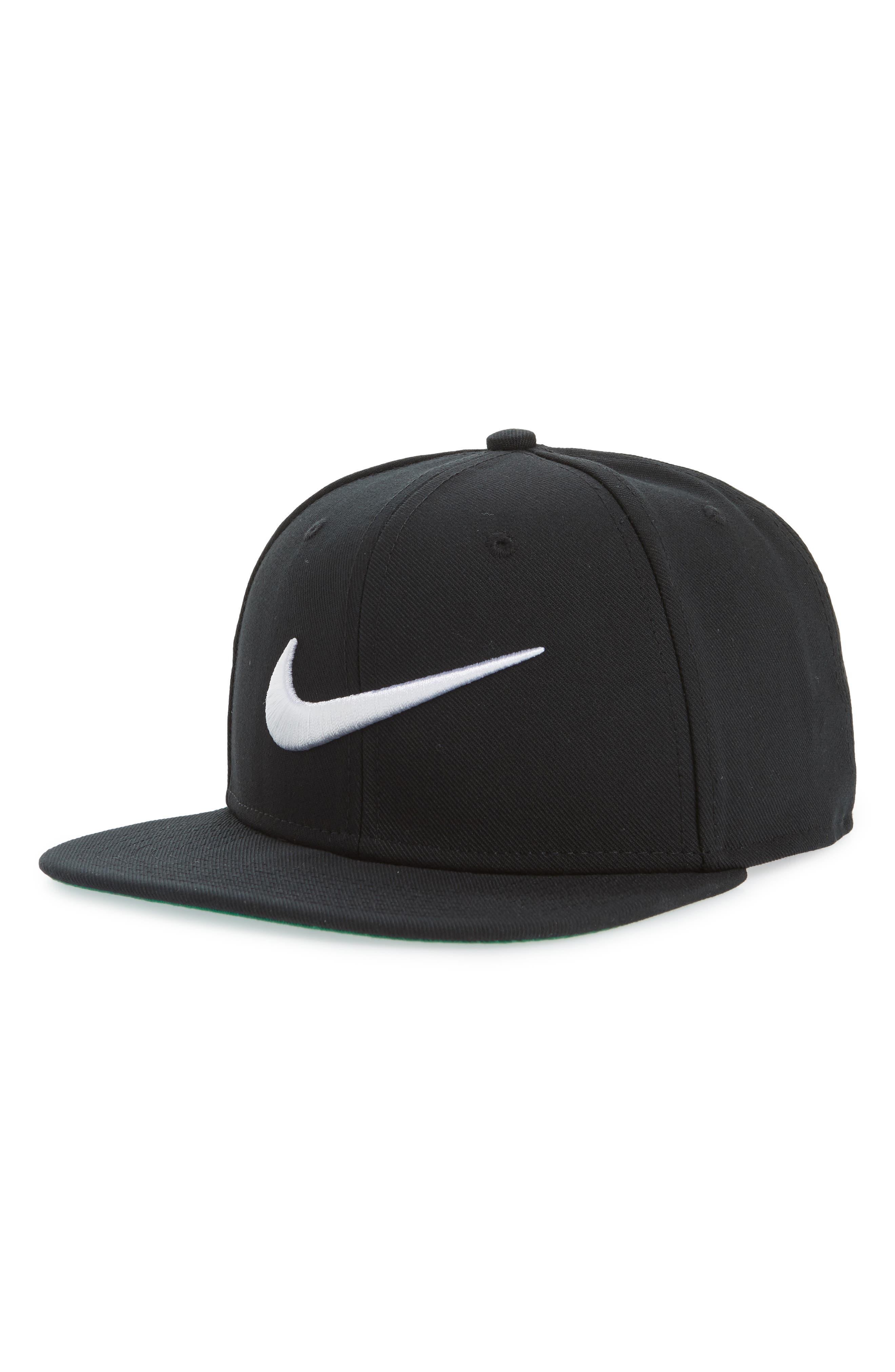 Pro Swoosh Classic Baseball Cap,                             Main thumbnail 1, color,                             Black/ Pine Green/ Blck/ White