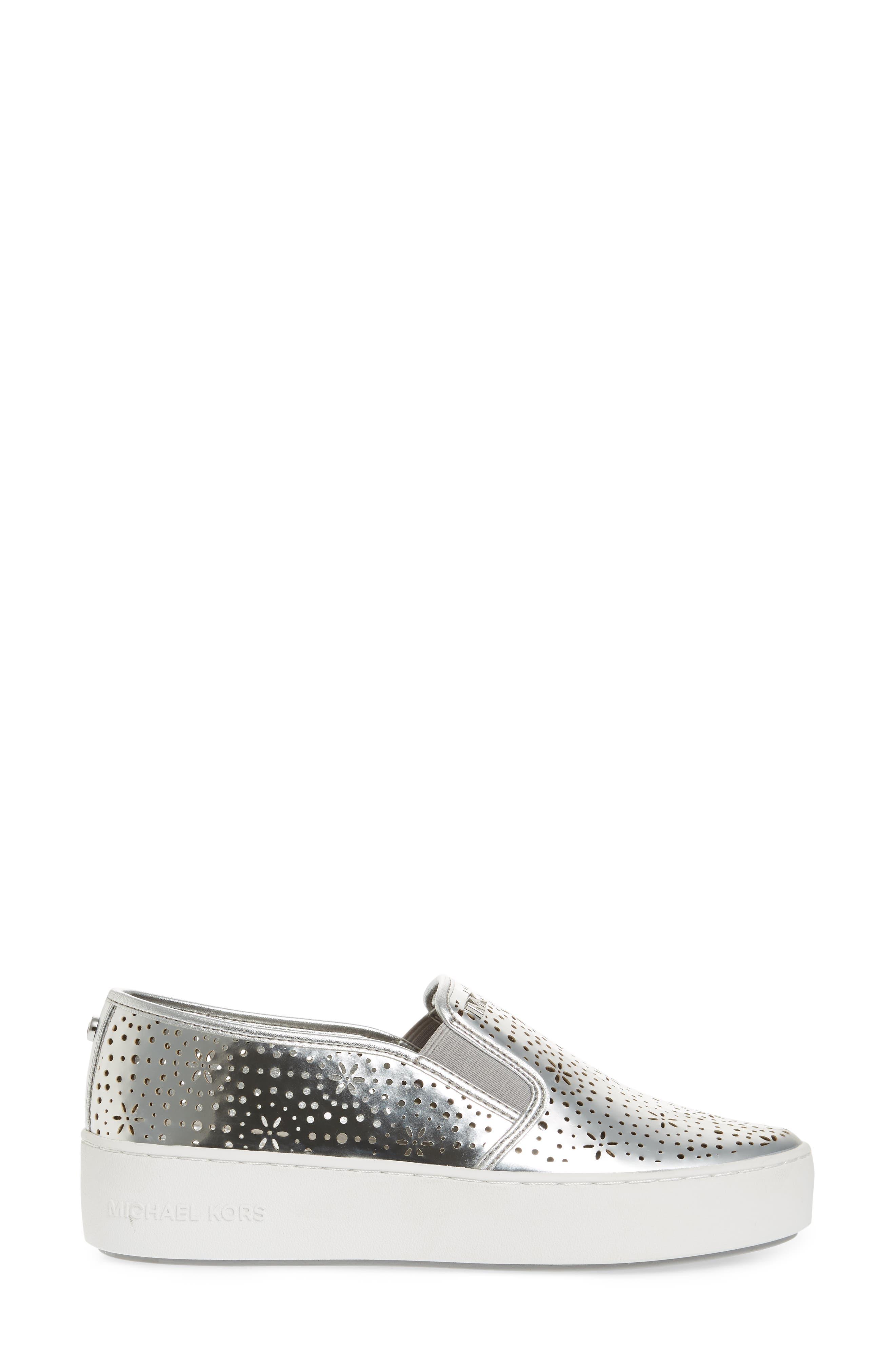 Trent Slip-On Sneaker,                             Alternate thumbnail 3, color,                             Silver