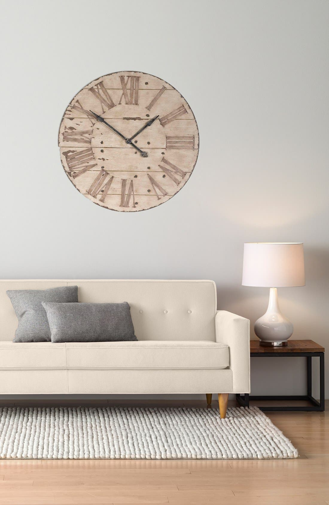 'Harrington' Wall Clock,                             Alternate thumbnail 2, color,                             Brown