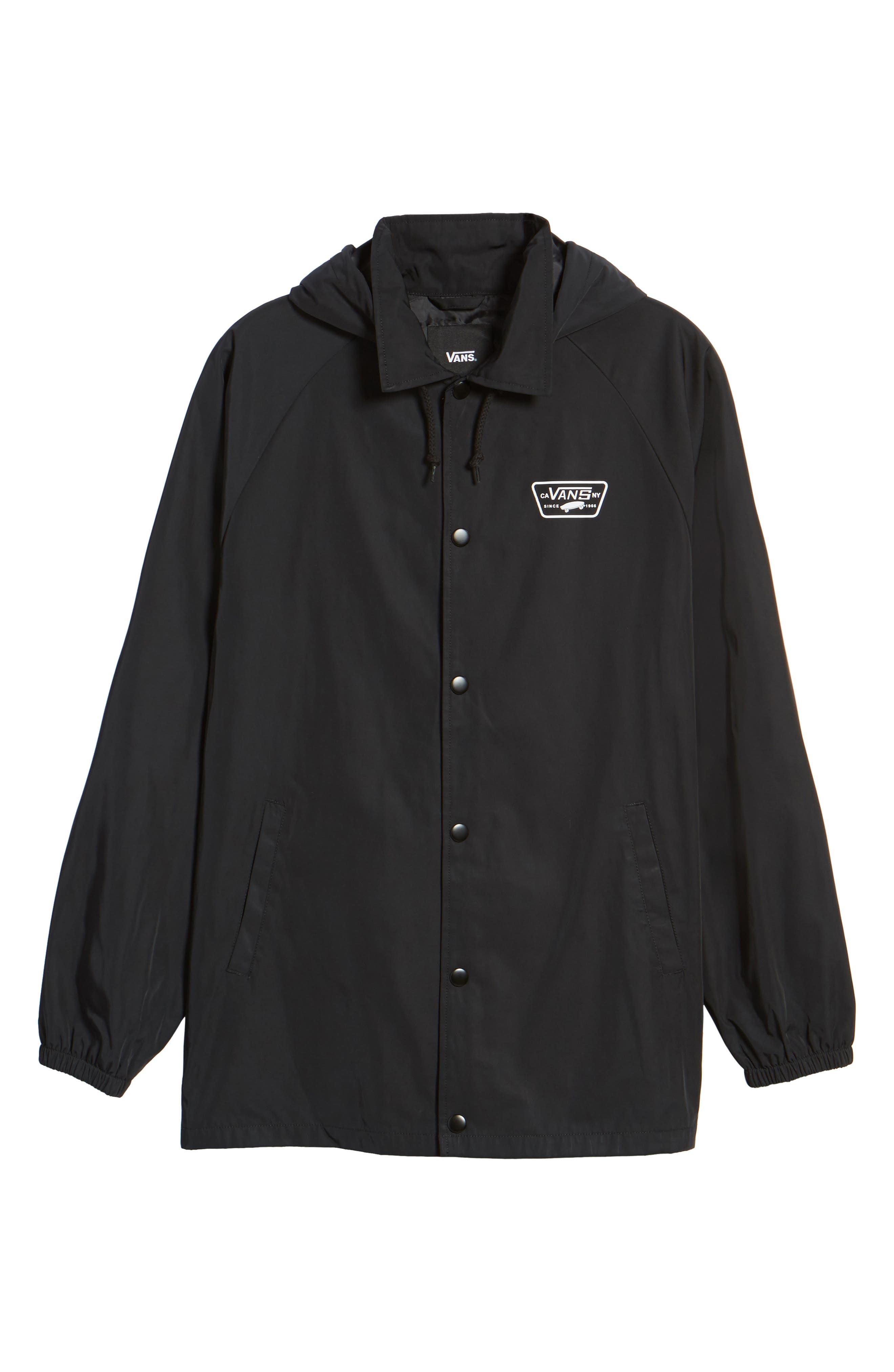 Torrey Water-Resistant Hooded Jacket,                             Alternate thumbnail 6, color,                             Black