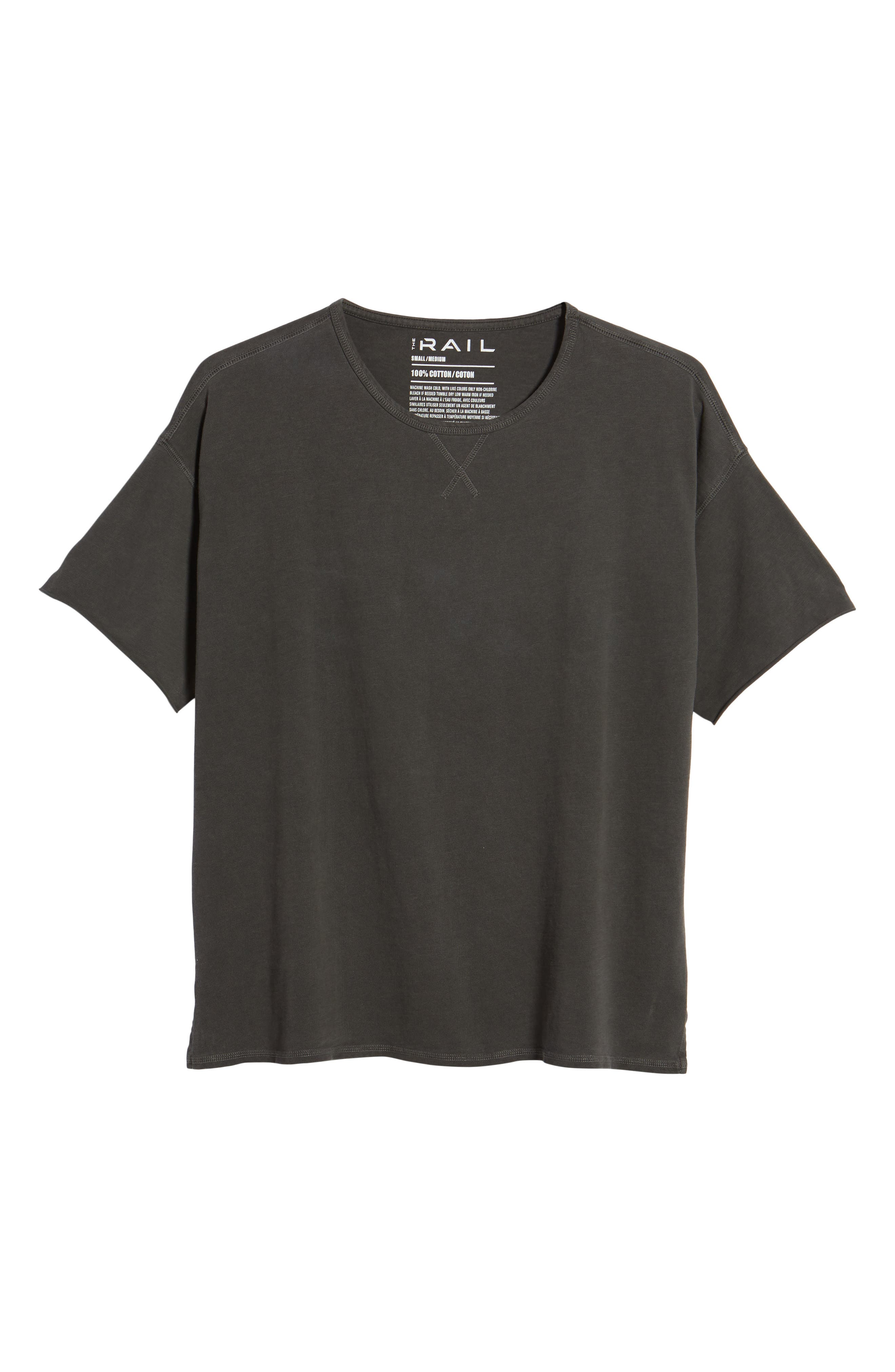 Slub T-Shirt,                             Alternate thumbnail 6, color,                             Grey Onyx