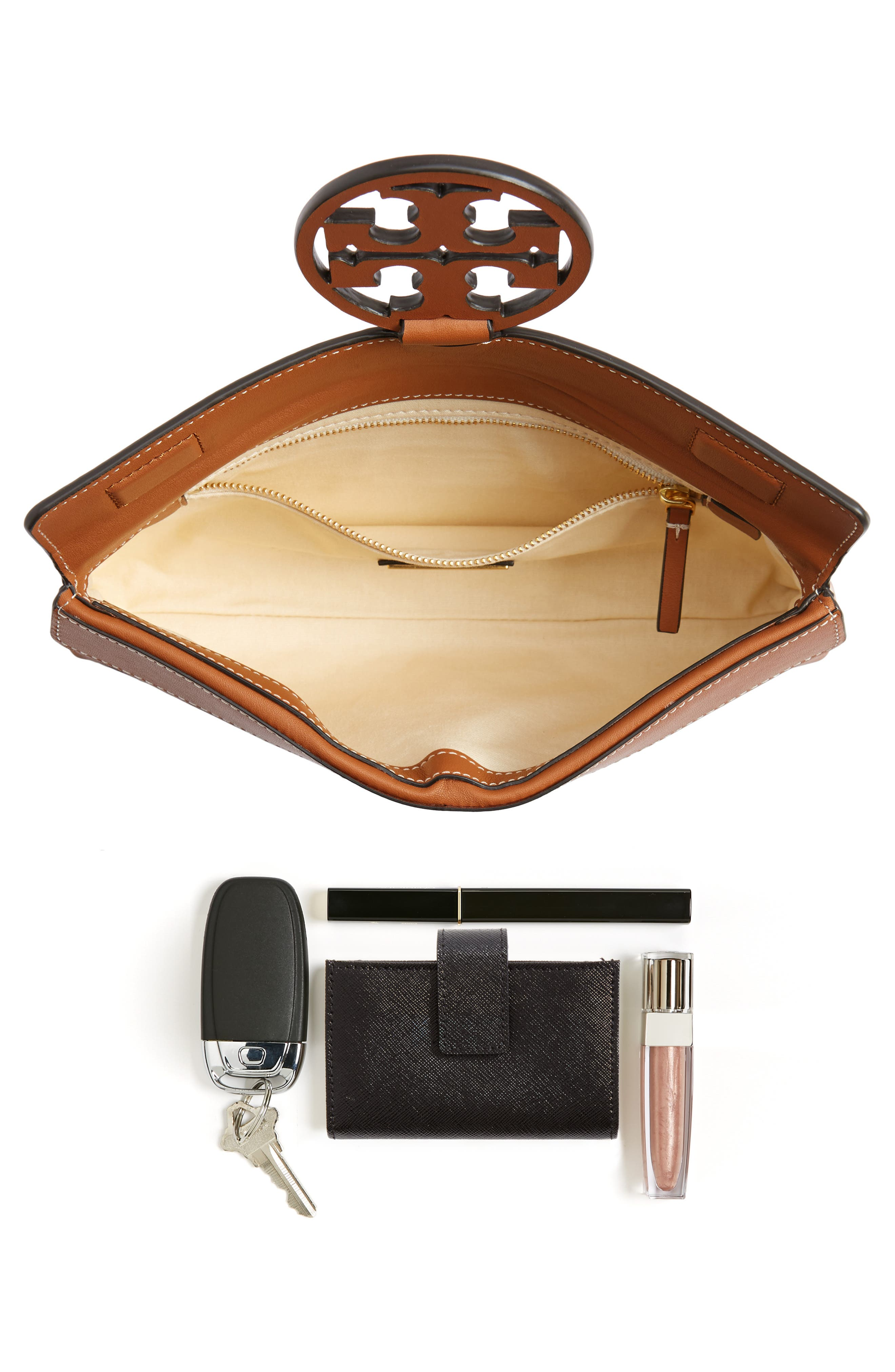 Alternate Image 6  - Tory Burch Miller Leather Clutch